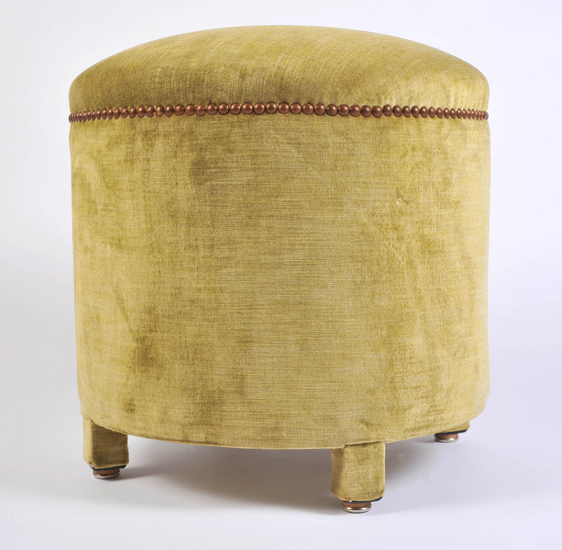 Green Yellow Upholstered Stool 03