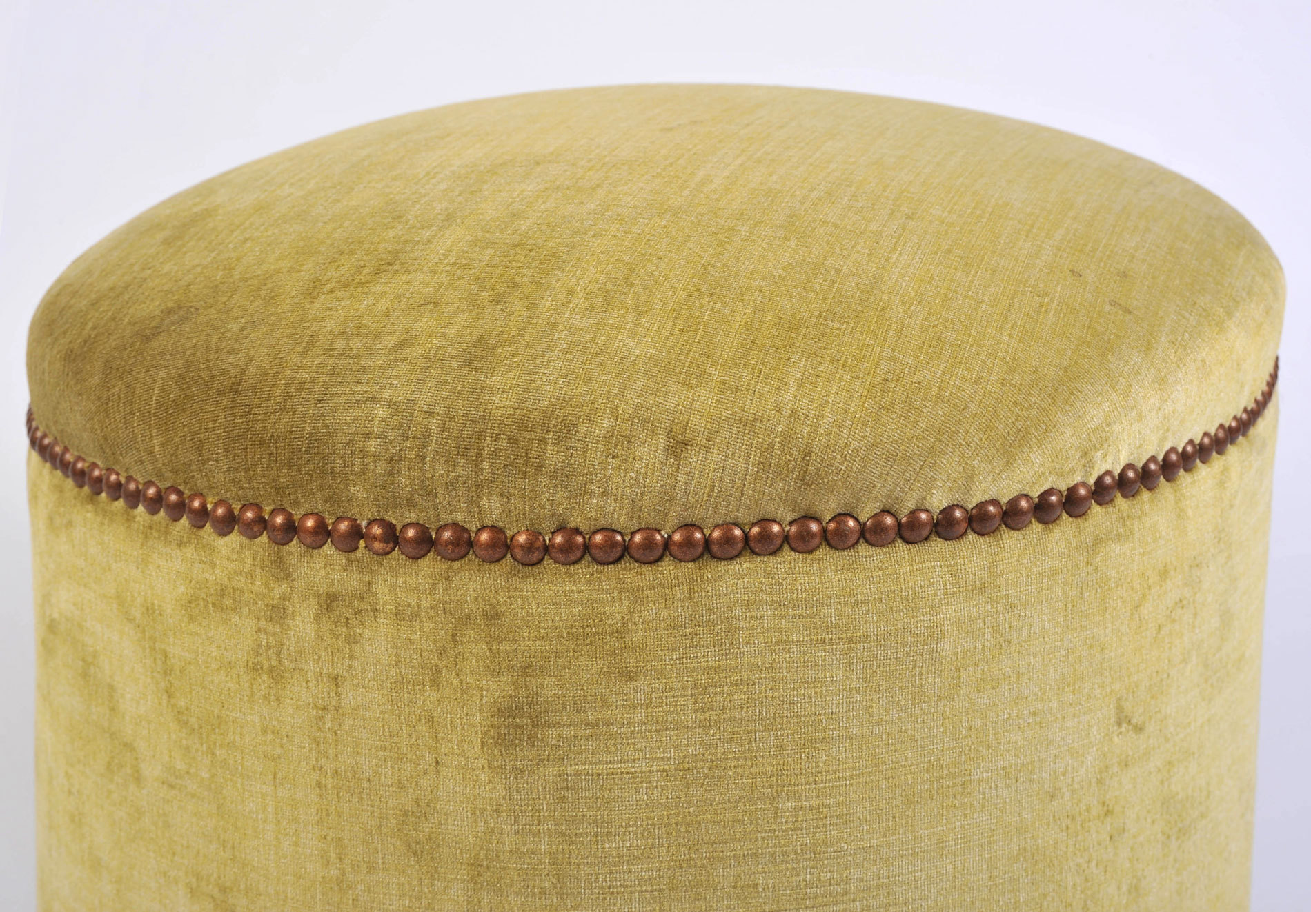 Green Yellow Upholstered Stool 04