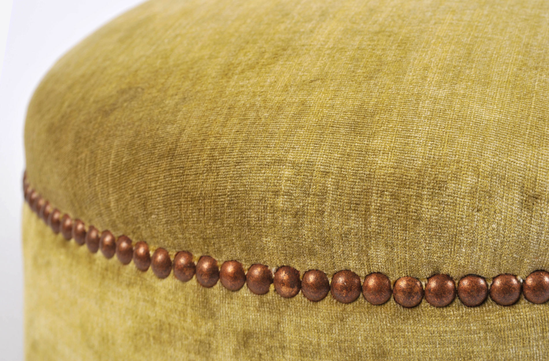 Green Yellow Upholstered Stool 05