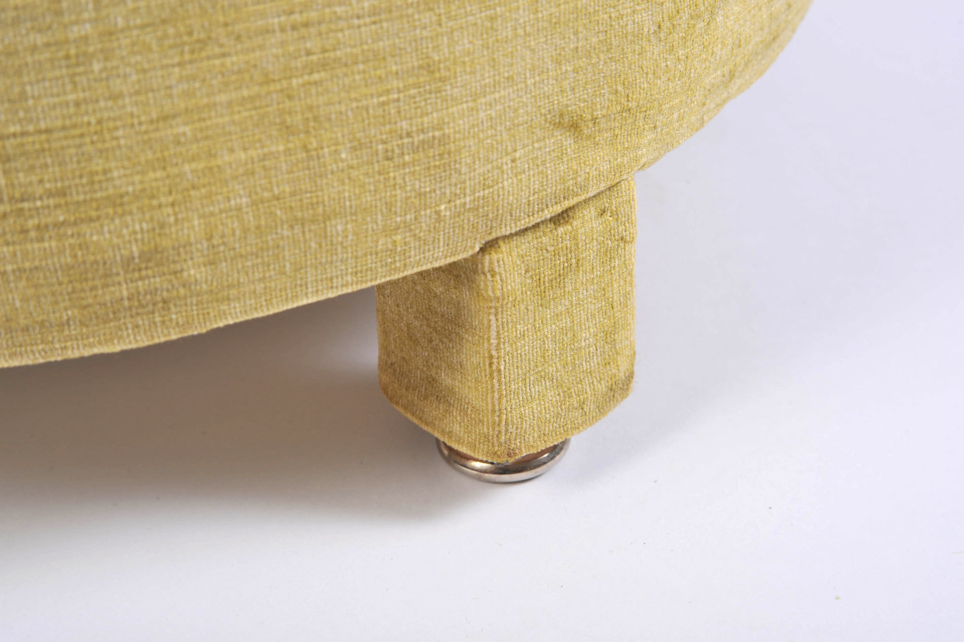 Green Yellow Upholstered Stool 06