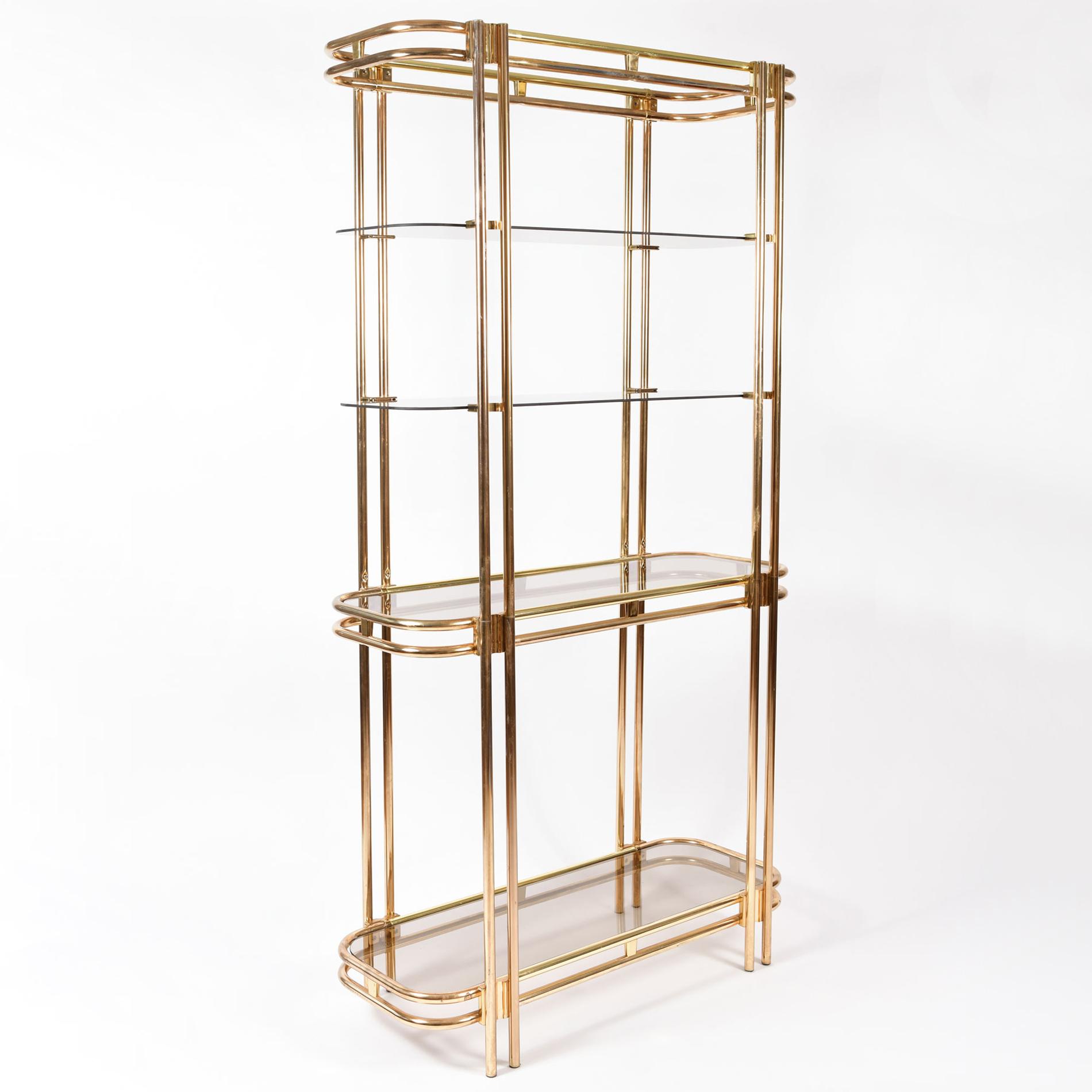 Hollywood Regency Brass Shelves 02