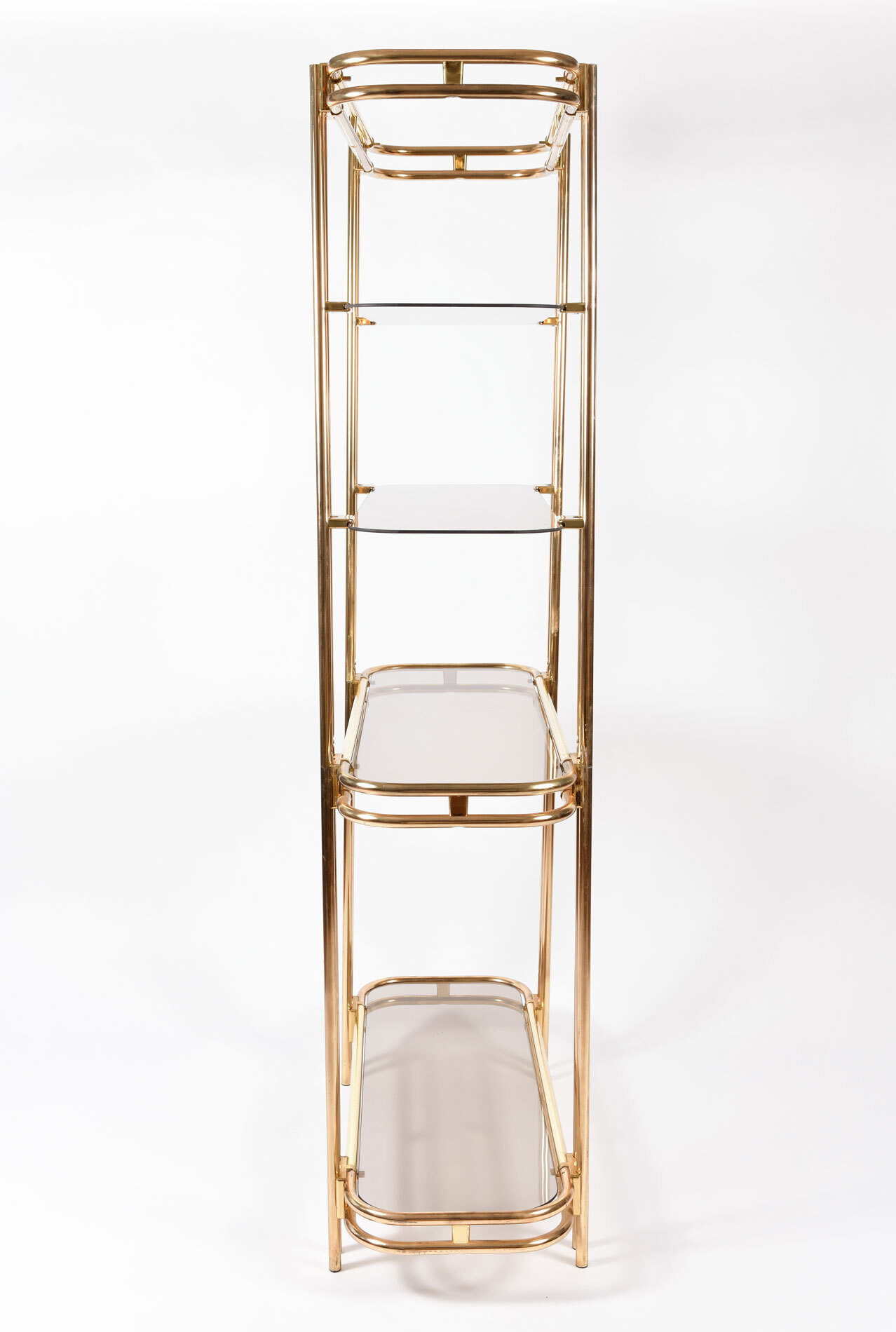 Hollywood Regency Brass Shelves 03