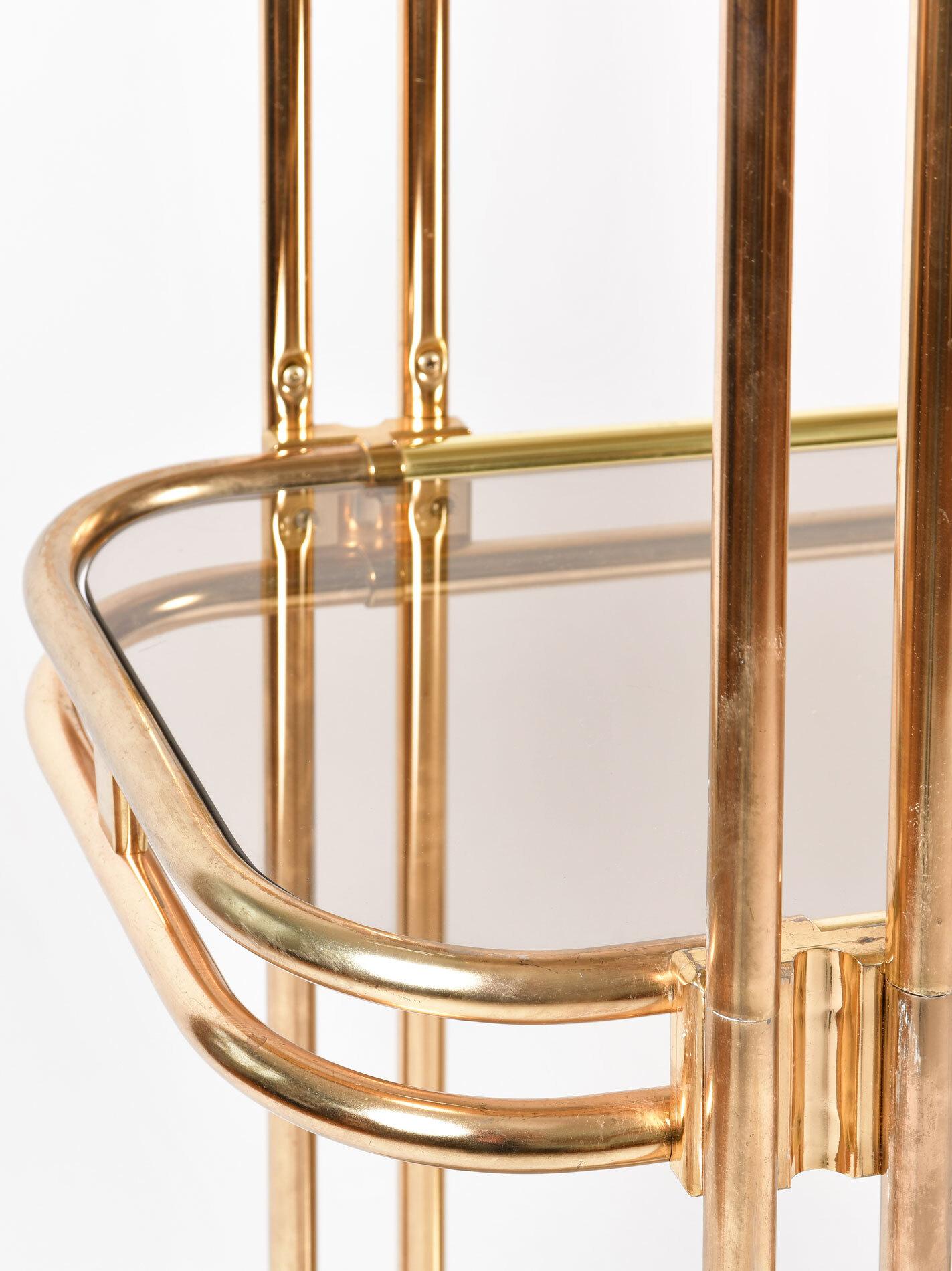 Hollywood Regency Brass Shelves 05