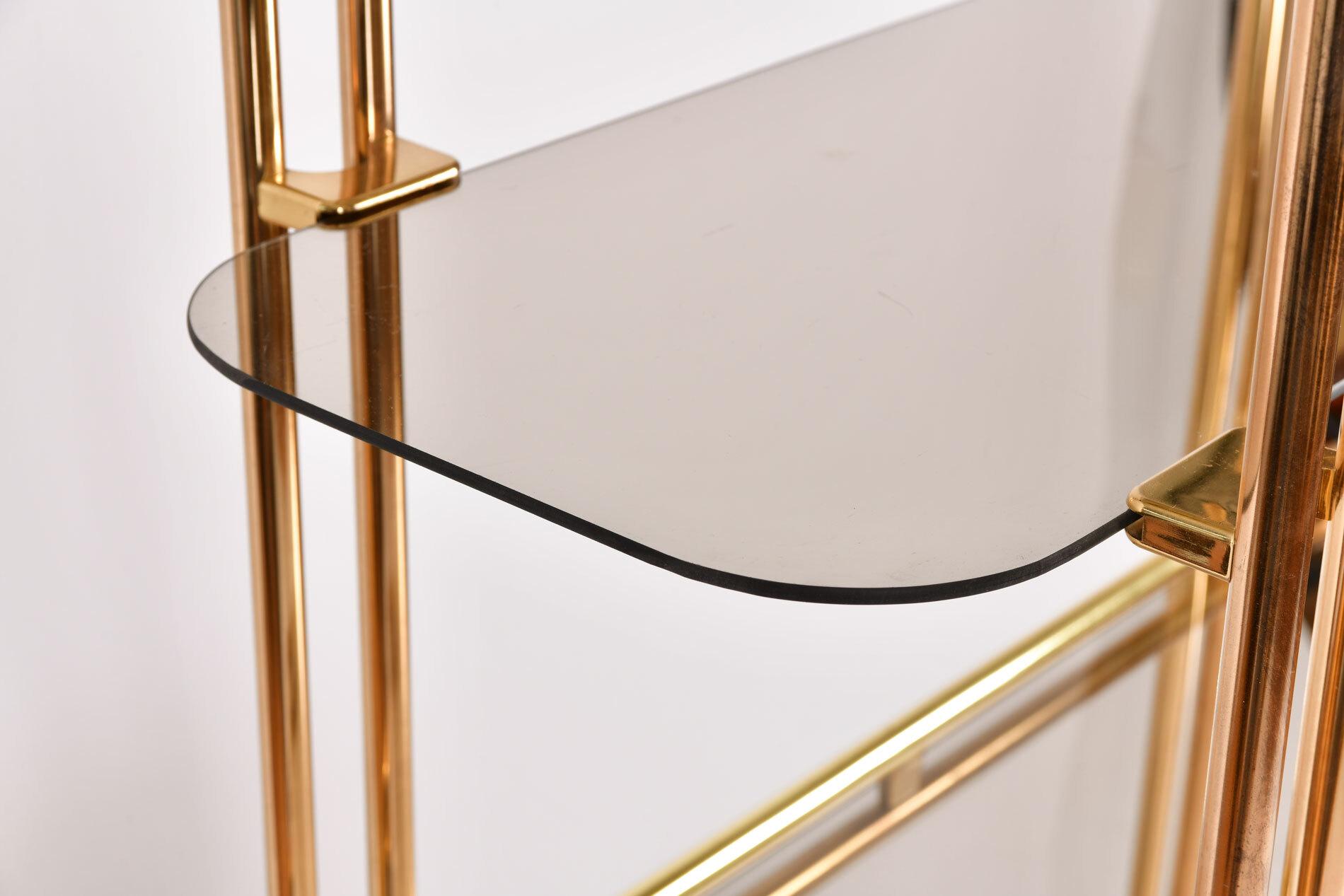 Hollywood Regency Brass Shelves 06
