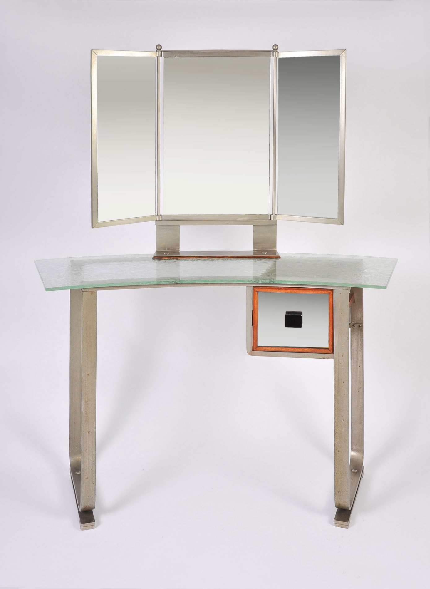 Italian Glass Chrome Dressing Table 02Ajpg