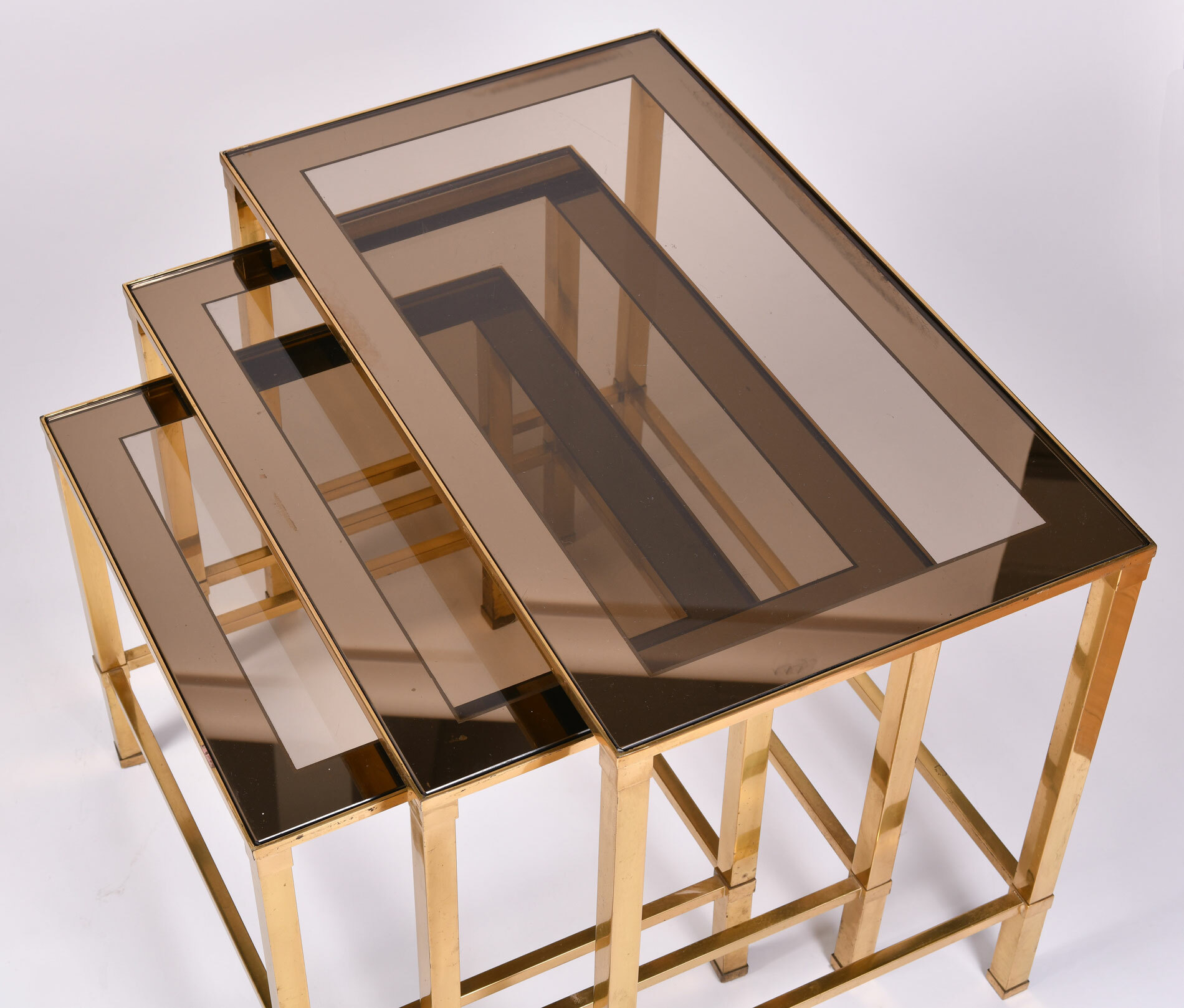 Italian Nest Brass Side Tables 04