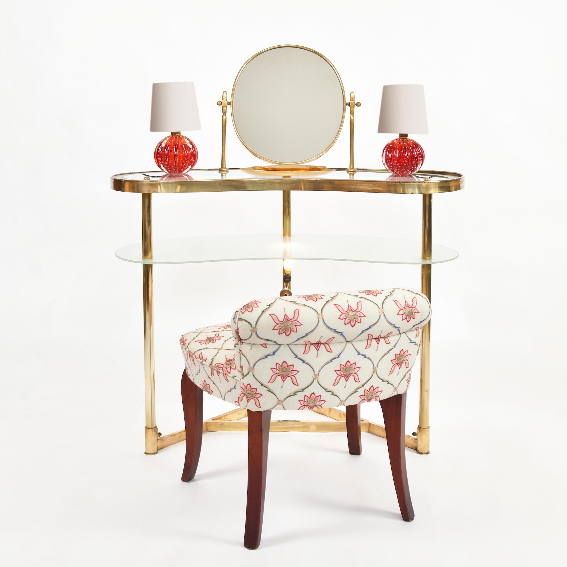 Italian Polka Dot Dressing Table