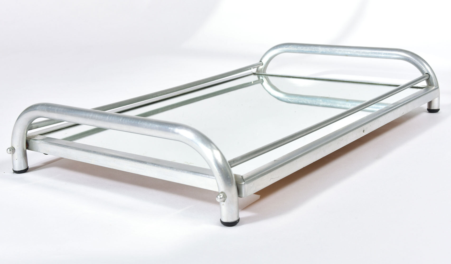 Large Chrome Mirrored Tray 03
