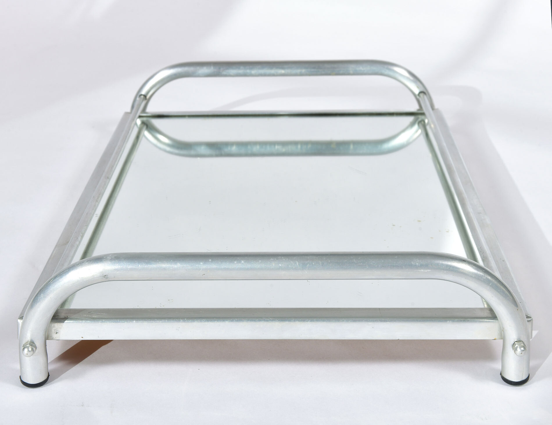 Large Chrome Mirrored Tray 04
