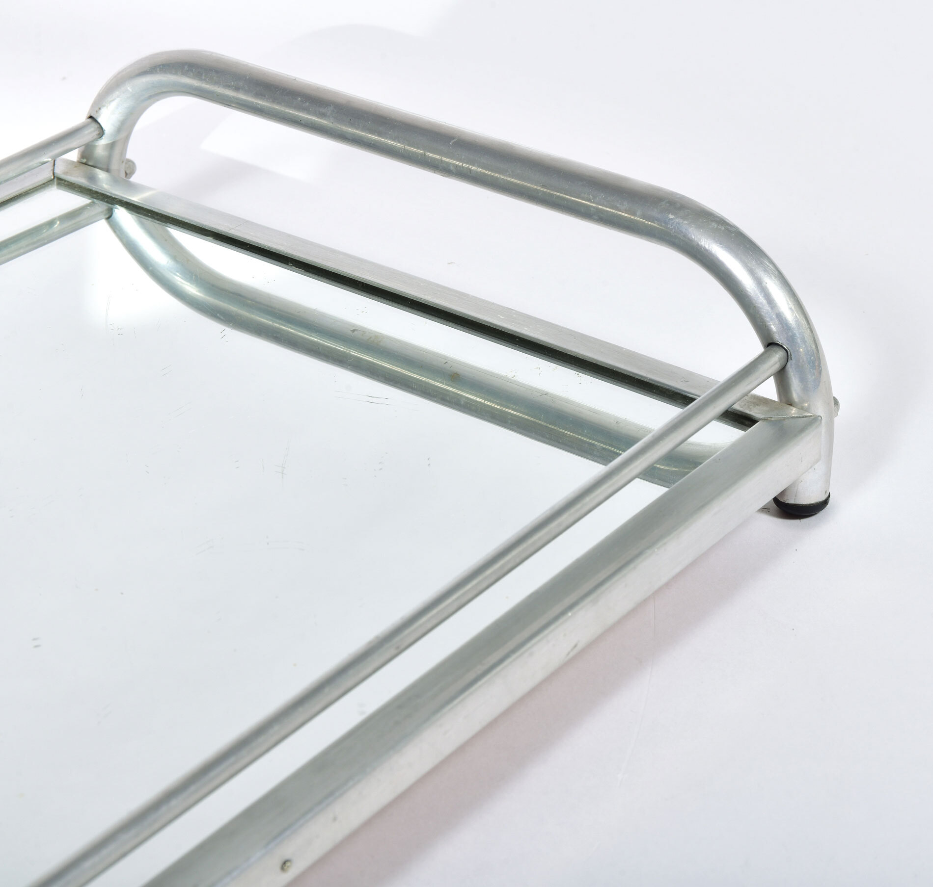 Large Chrome Mirrored Tray 05