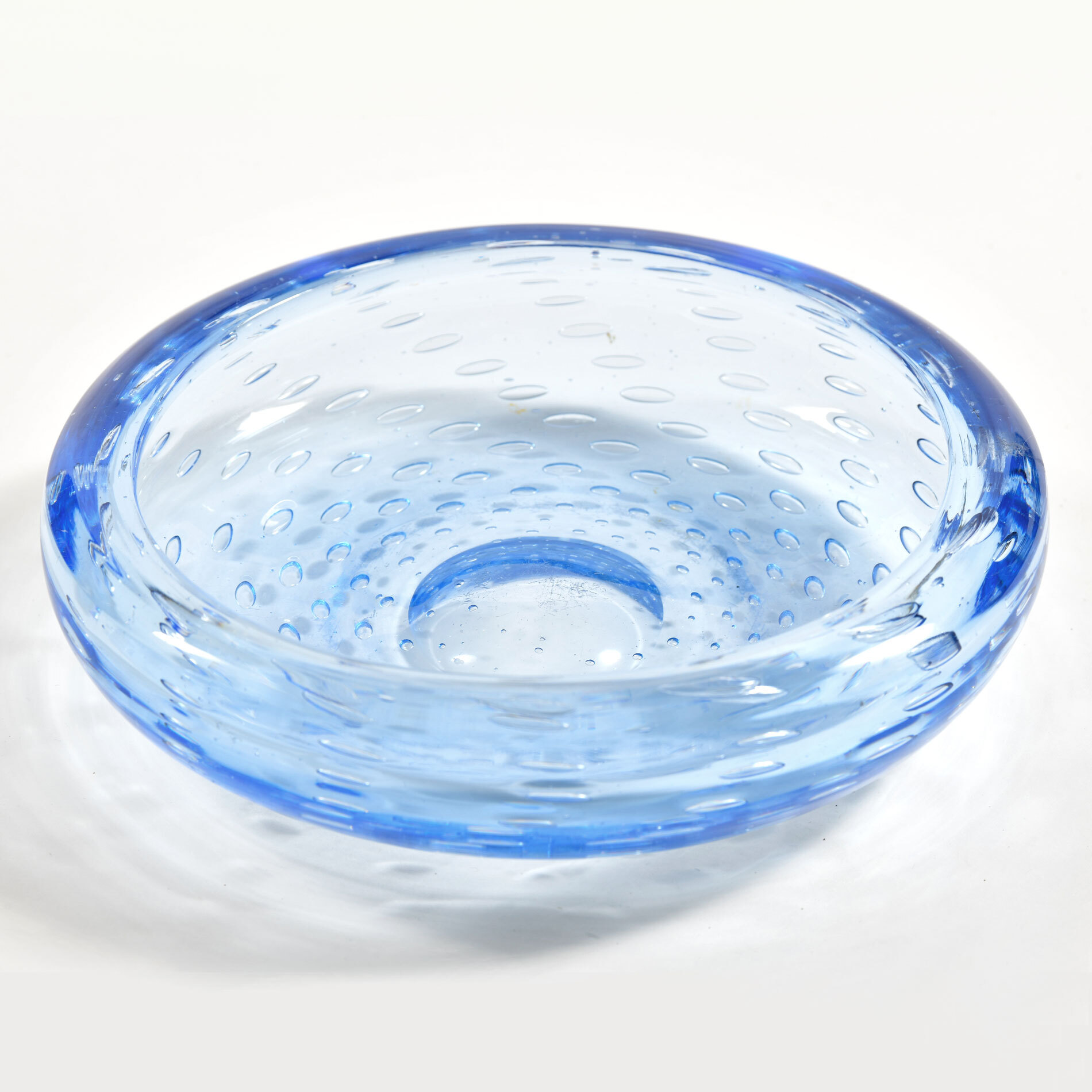 The image for Mid Centruy Blue Murano Bowl 01