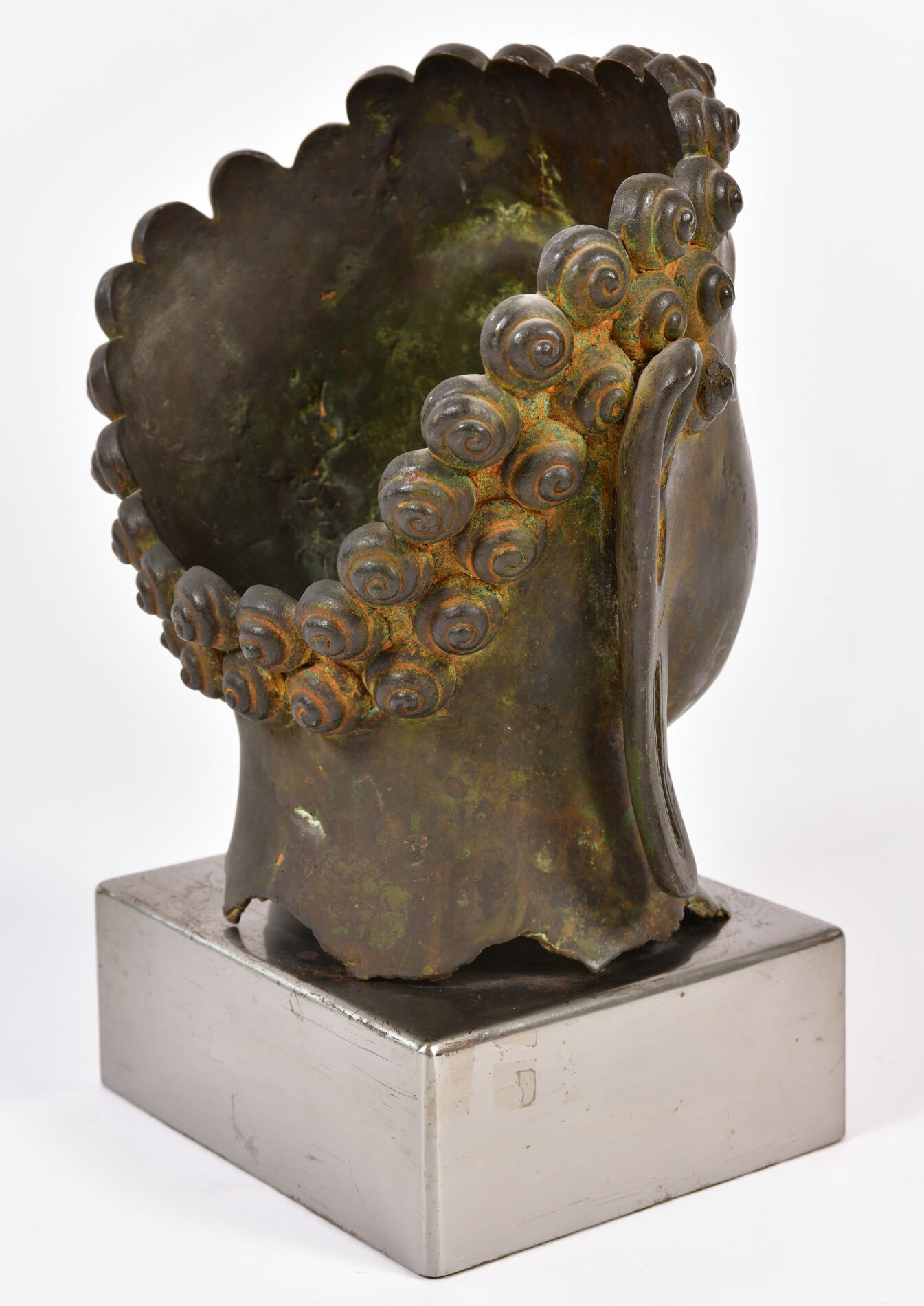 The image for Modern Bronze Buddha Head 04