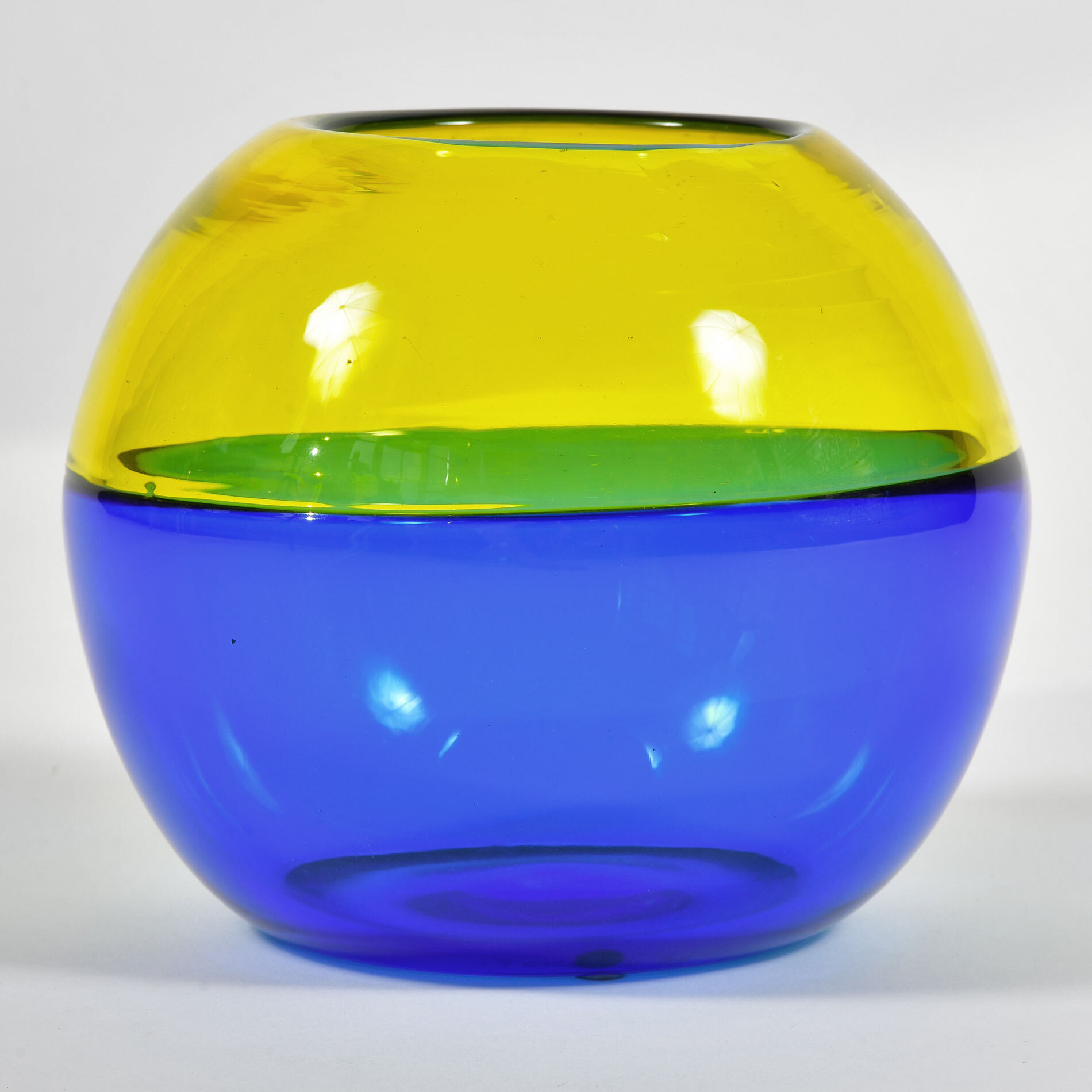 Murano Blue And Yellow Vase 01