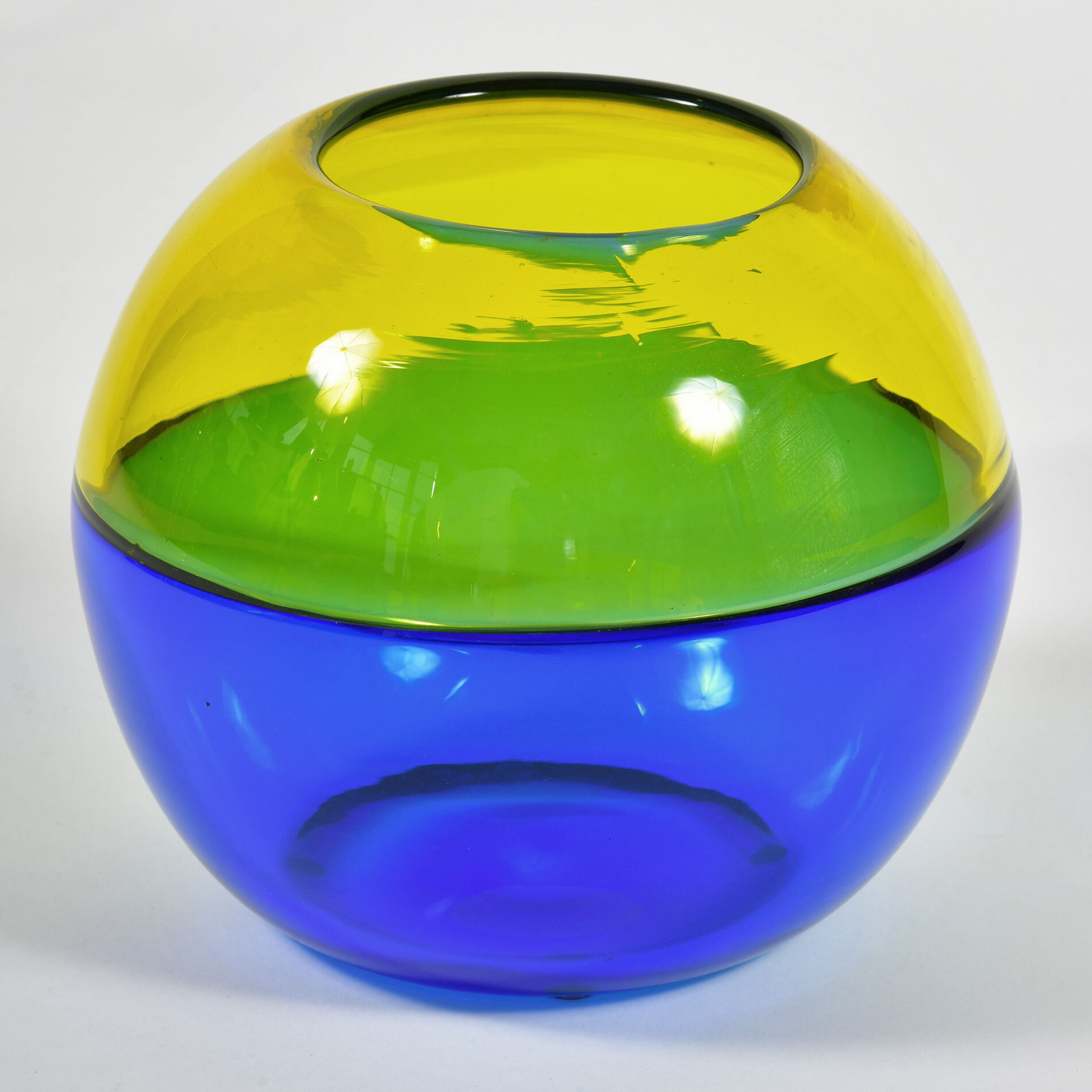 Murano Blue And Yellow Vase 03