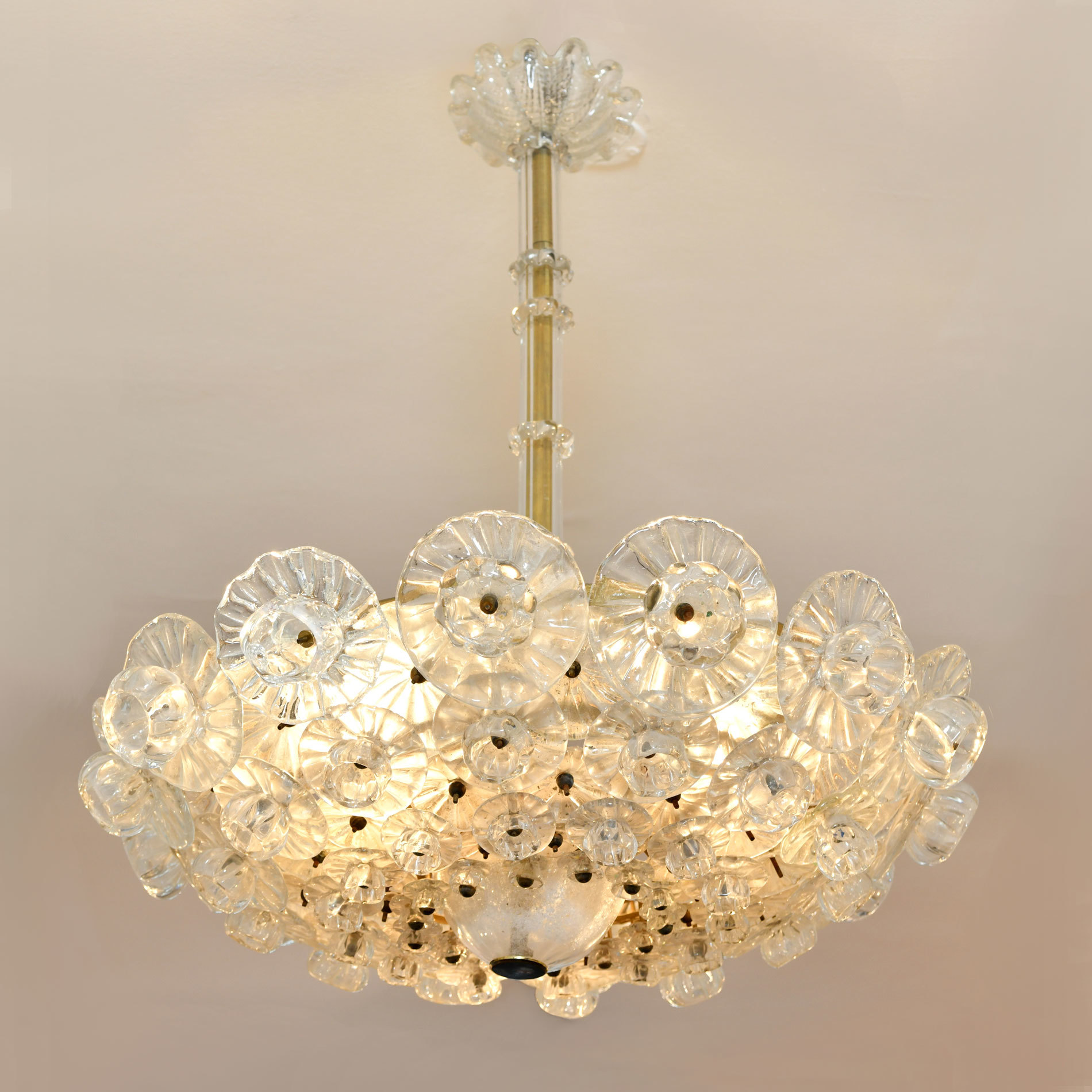 The image for Murano Glass Chandelier By Barovier 01