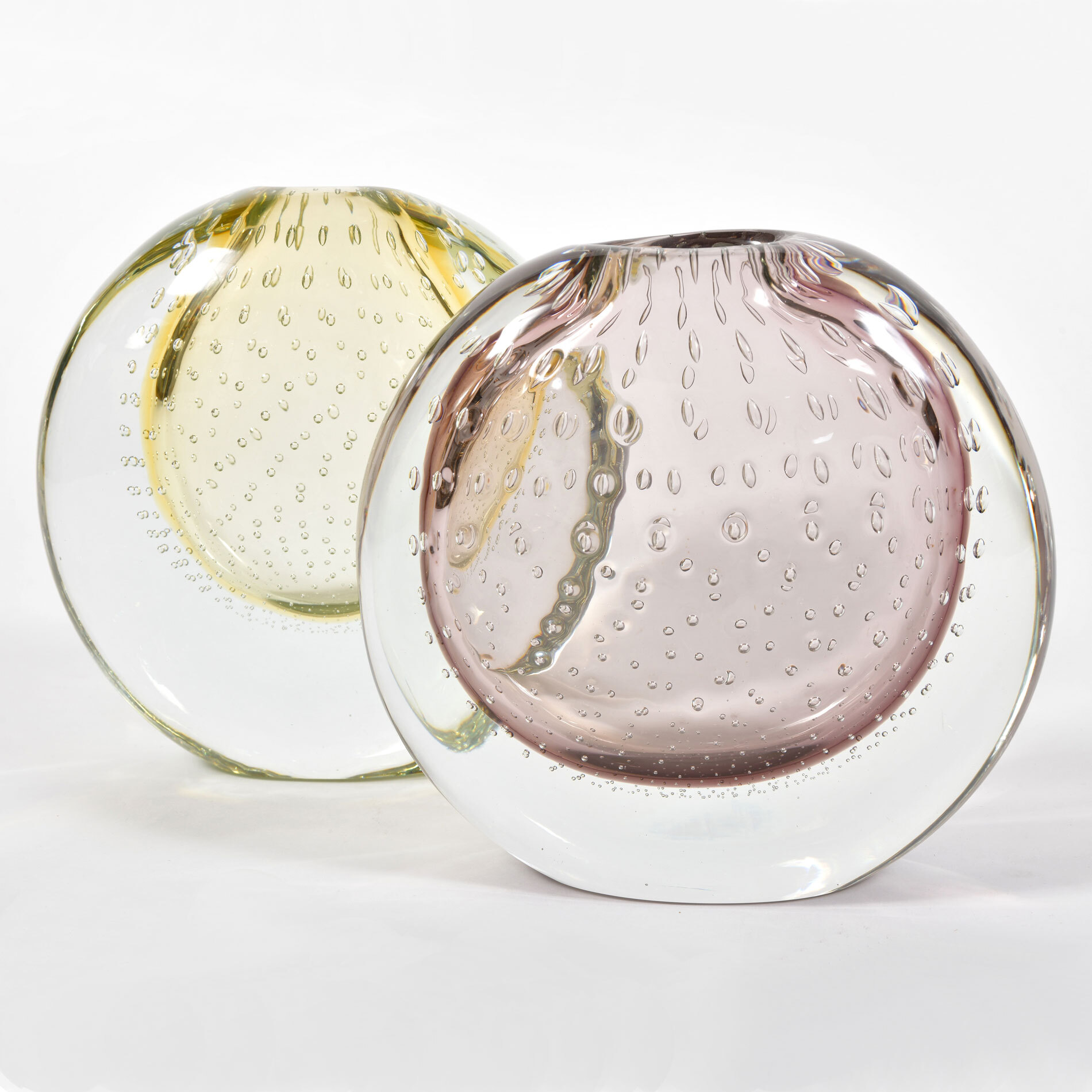 The image for Murano Lilac Lemon Vases 01