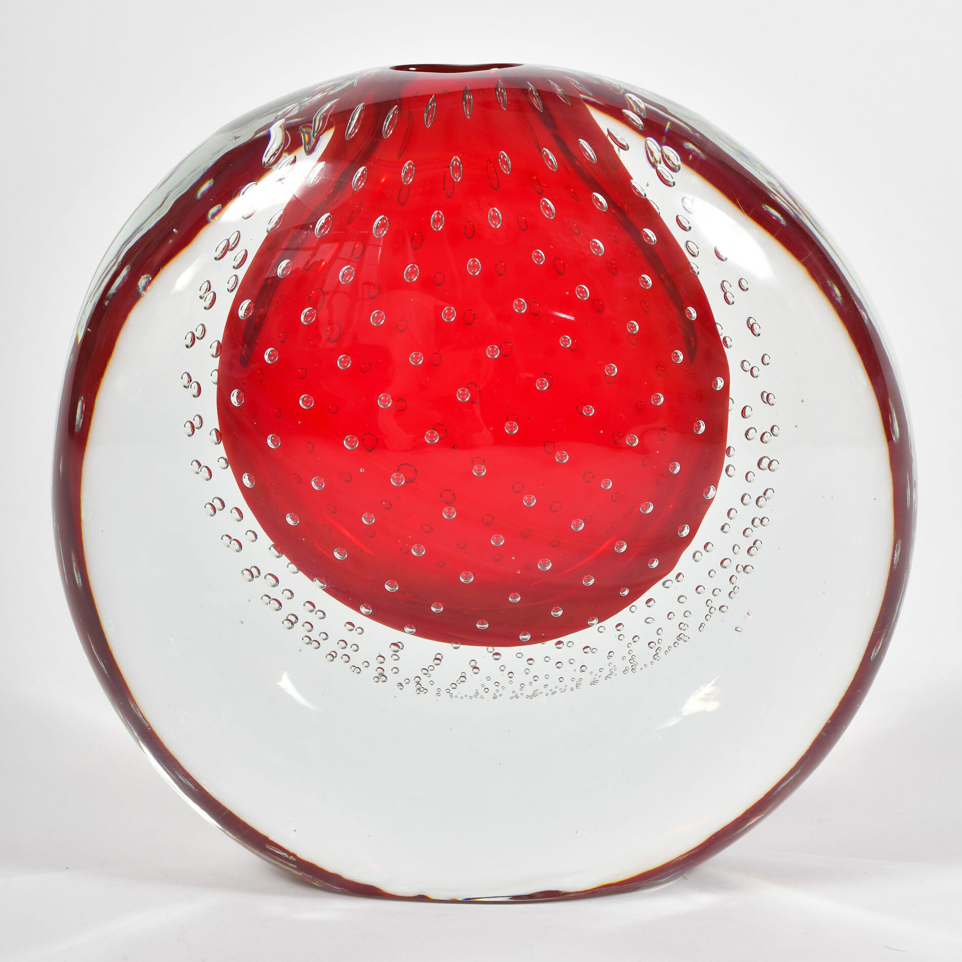 Murano Red Bubble Vase 01