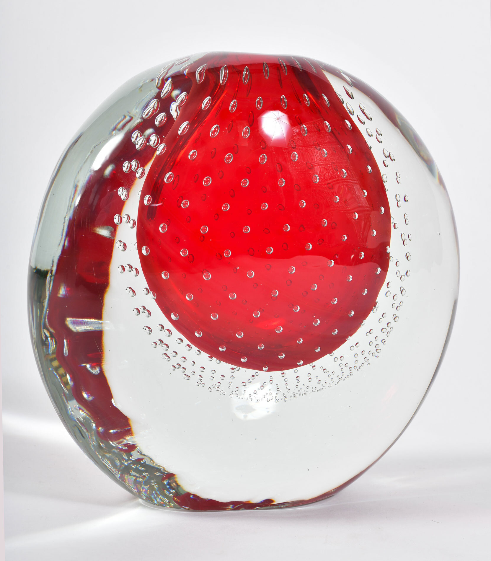 Murano Red Bubble Vase 02