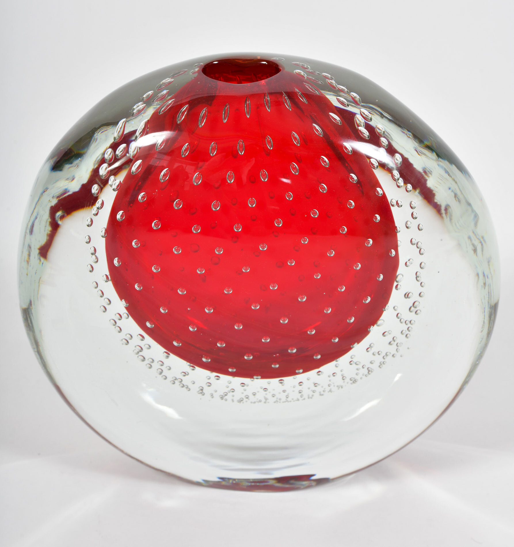 Murano Red Bubble Vase 03