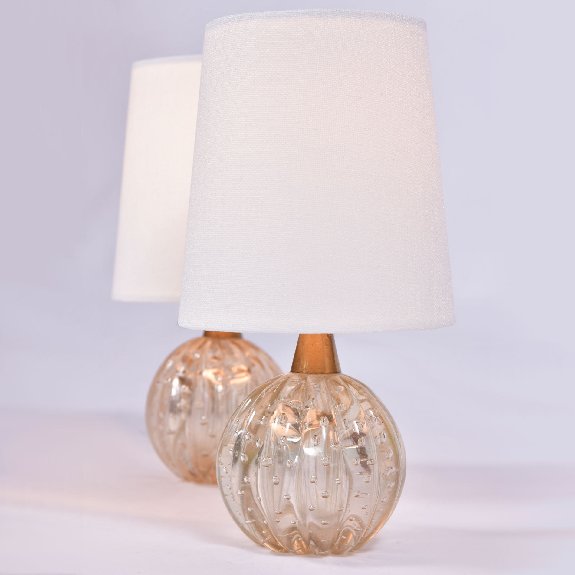 Paiar Clear Murano Lamps 01