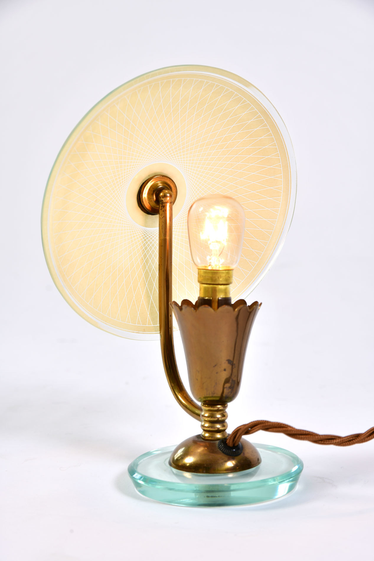Pair 1940S Flower Lamps 05