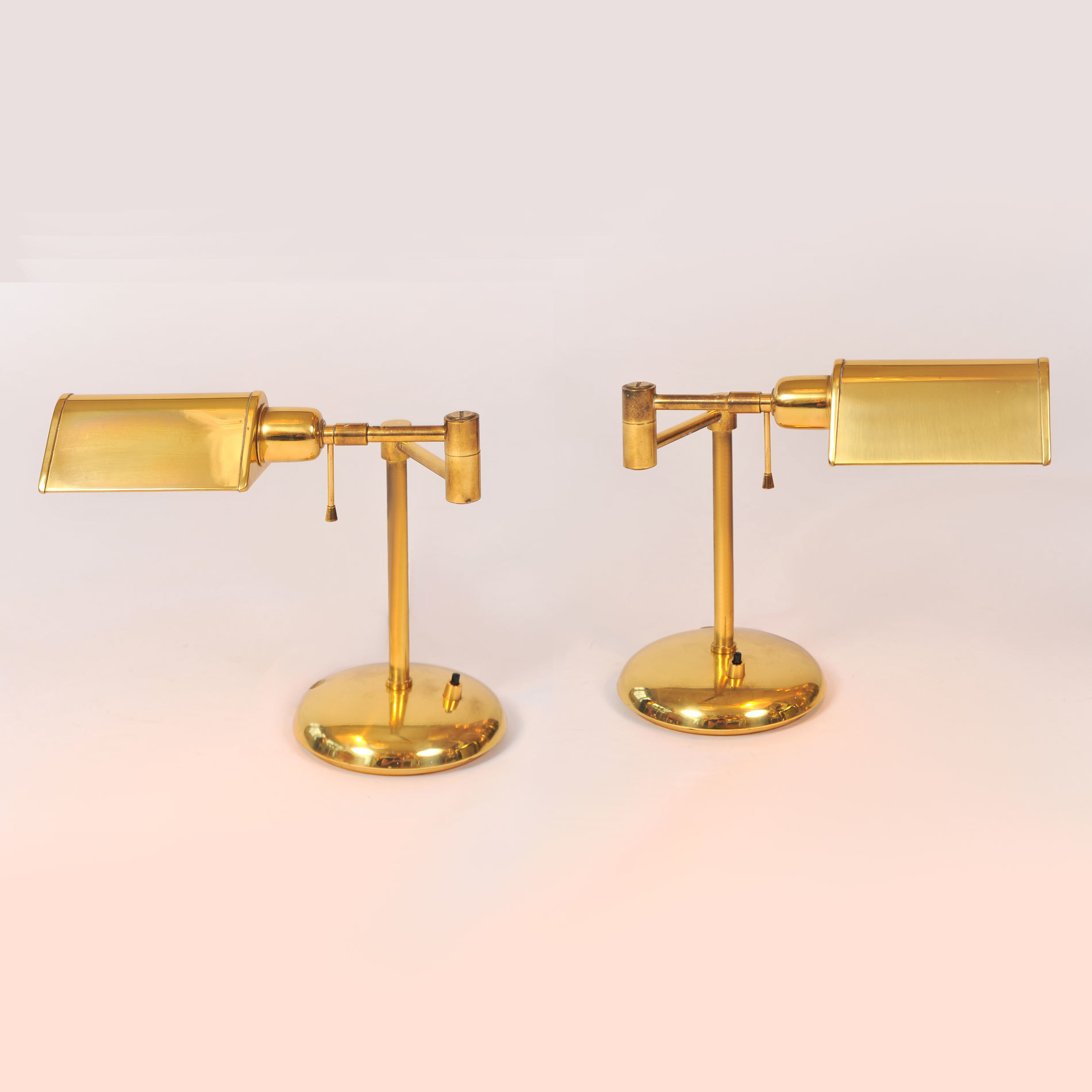 Pair Of 1950s Italian Brass Desk Lamps