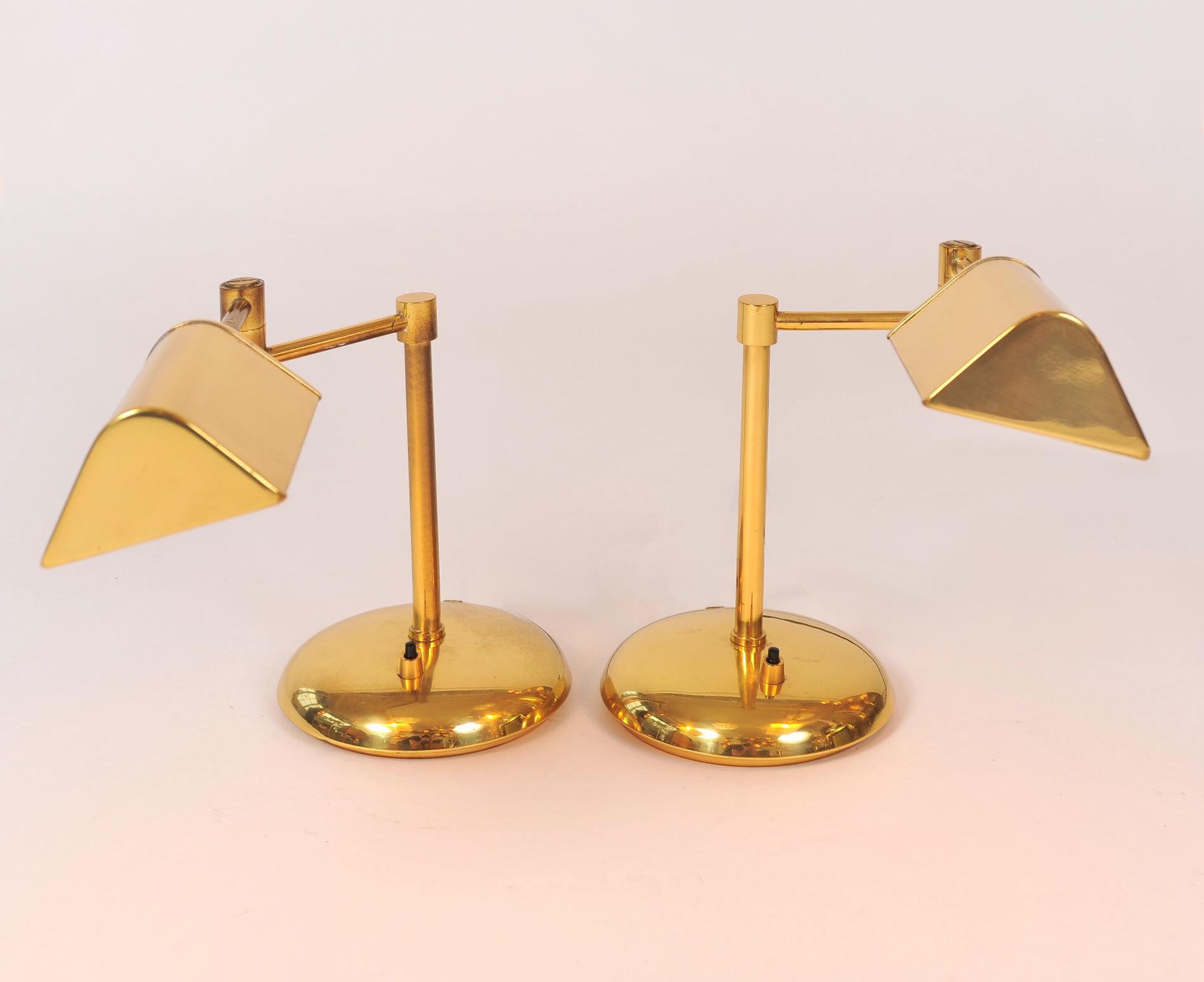 Pair Brass Desk Lamps 02