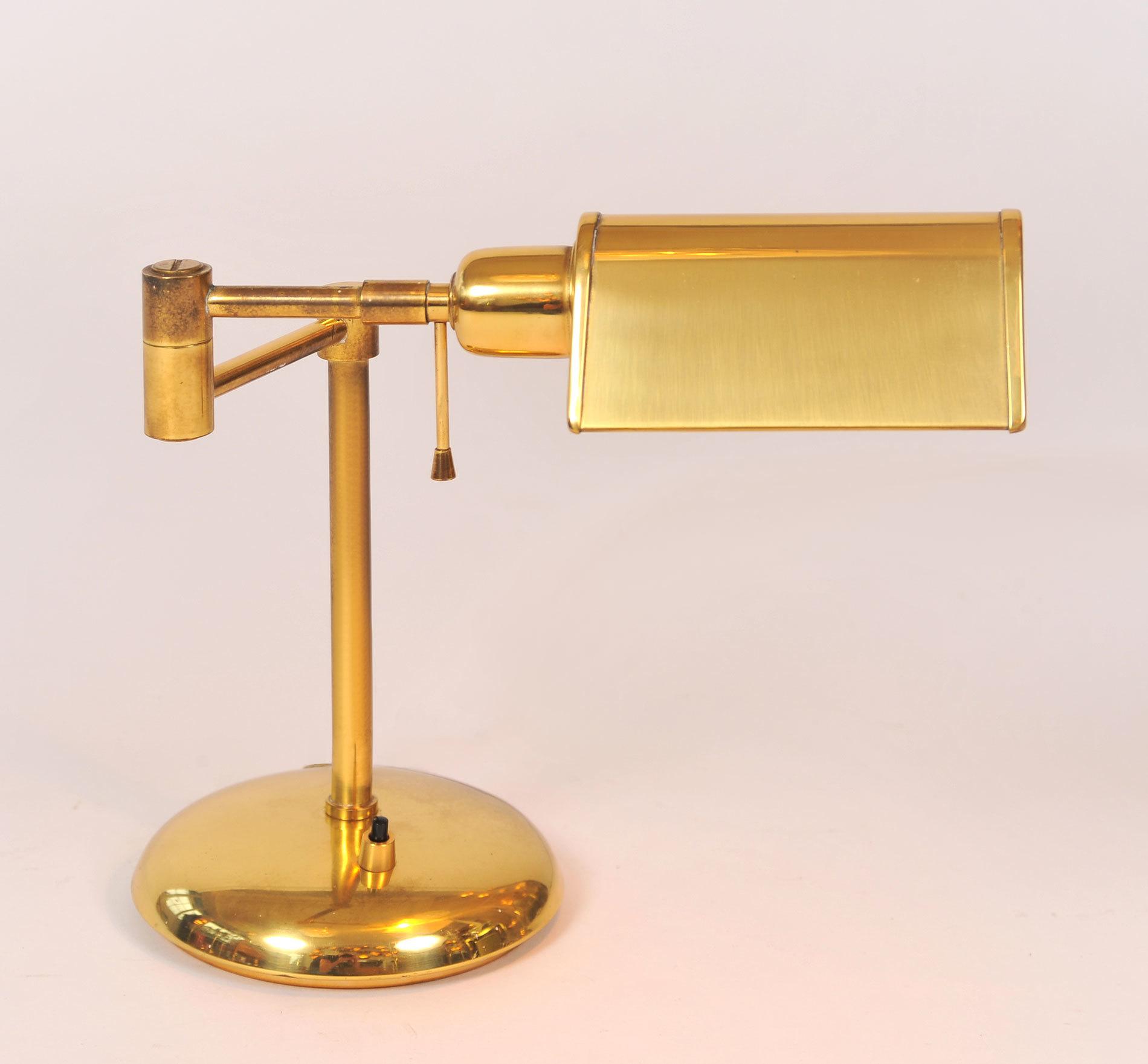 Pair Brass Desk Lamps 03