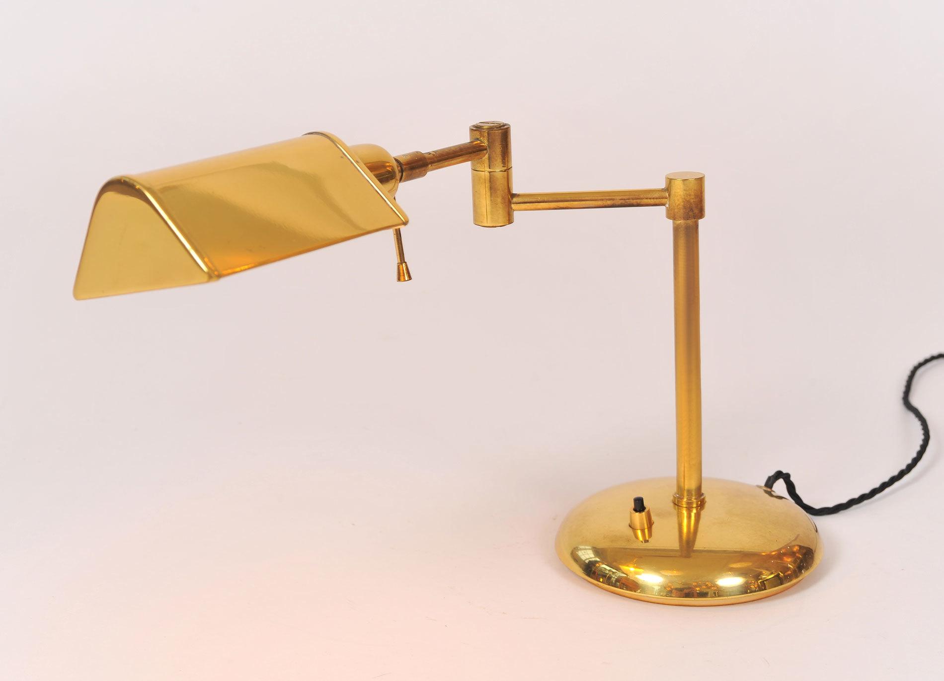 Pair Brass Desk Lamps 05