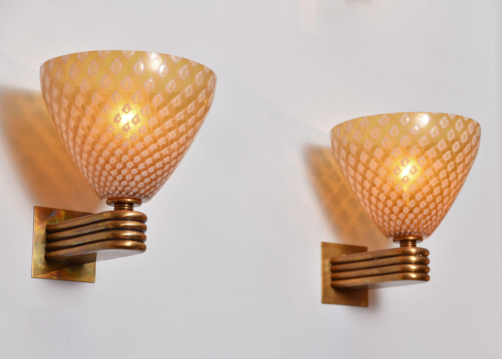The image for Pair Caramella Wall Lights 03