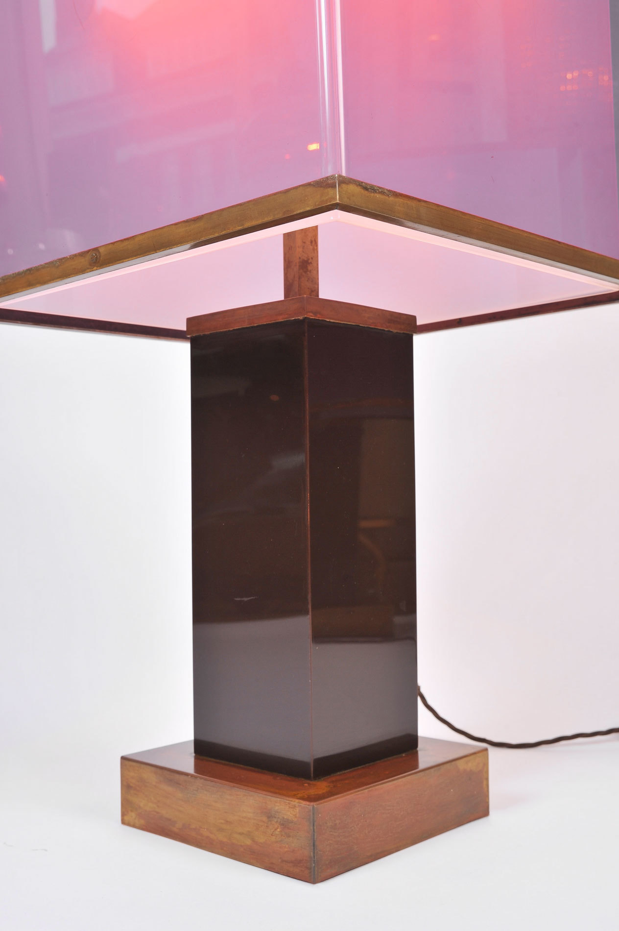 Pair Double Perspex Shade Lamps 03