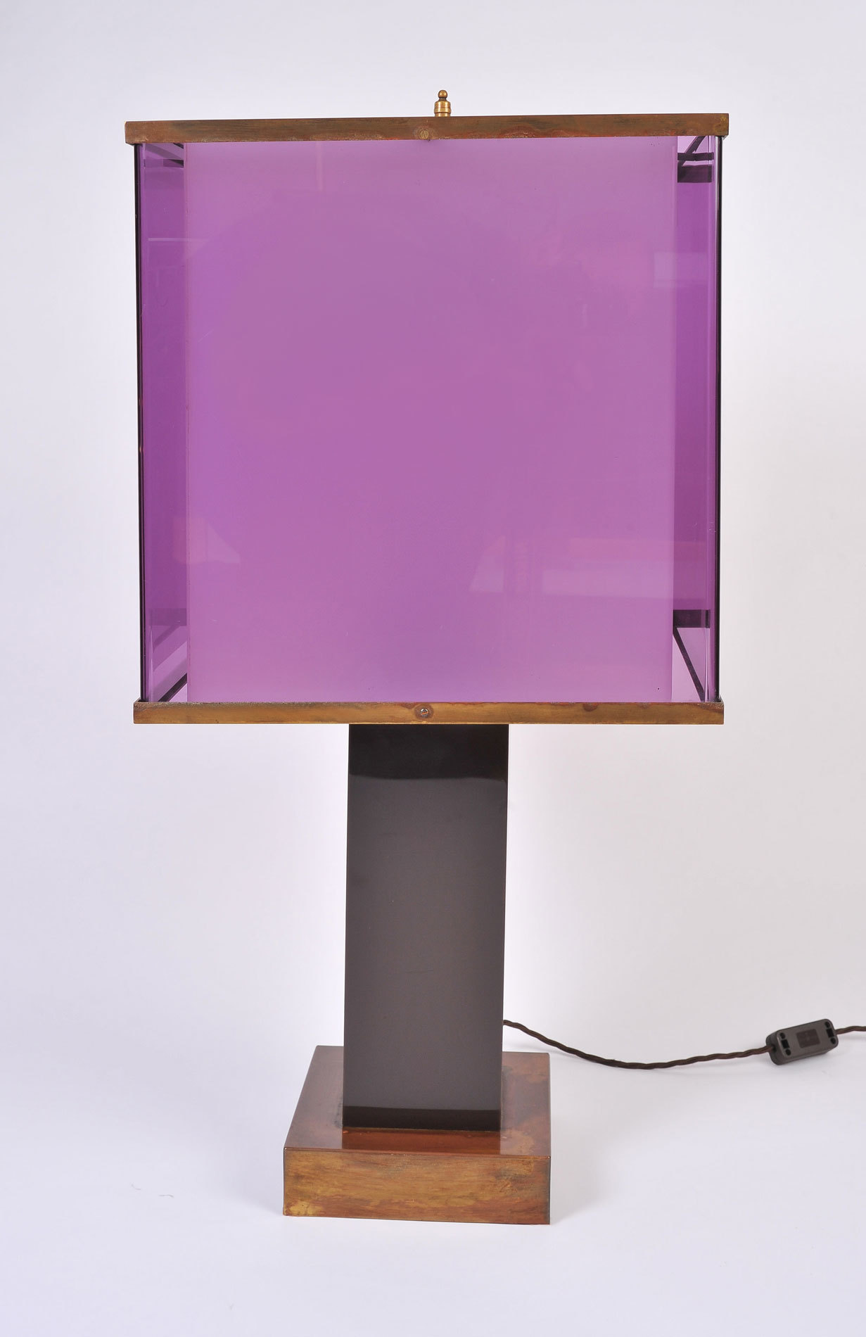 Pair Double Perspex Shade Lamps 05