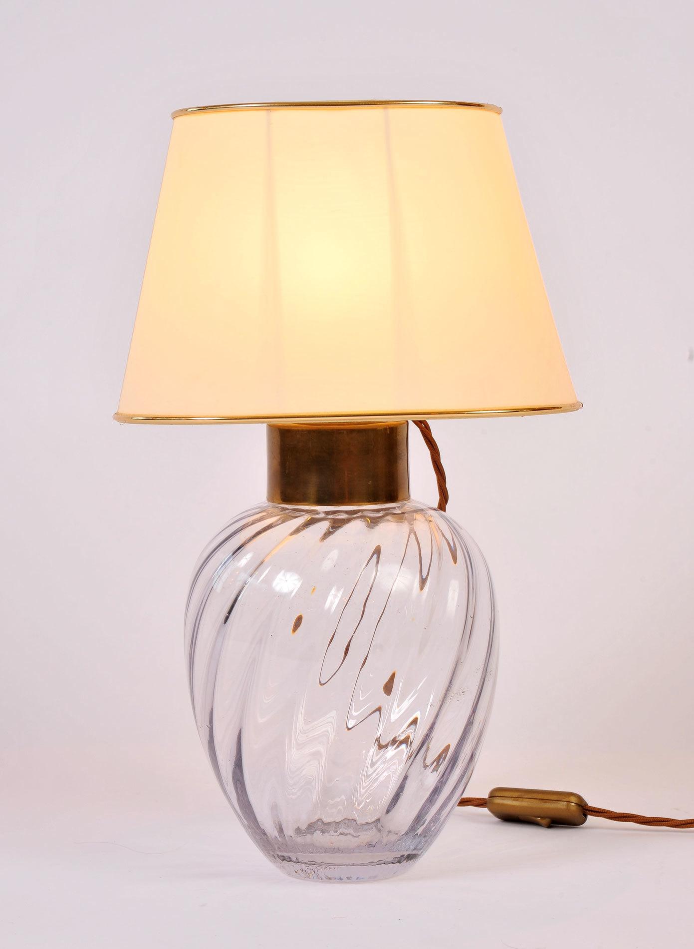 Pair Italian Glass Lamps 02