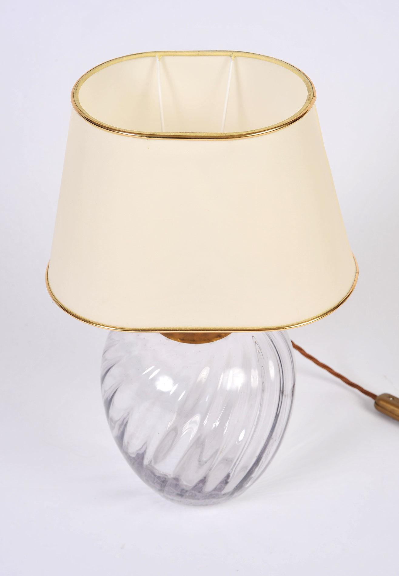 Pair Italian Glass Lamps 04