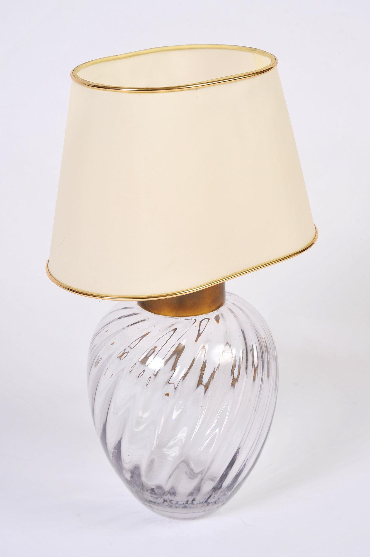 Pair Italian Glass Lamps 05