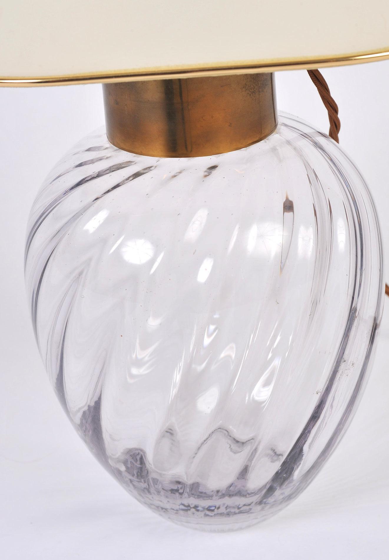 Pair Italian Glass Lamps 06