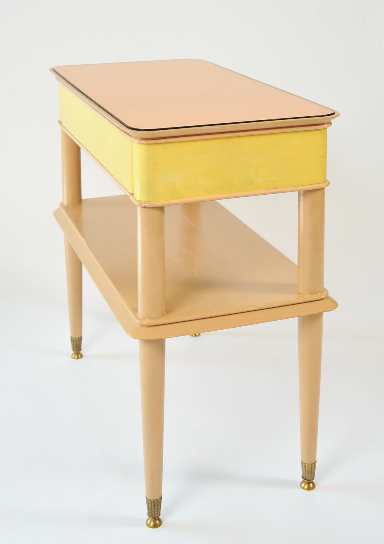 Pair Italian Painted Bedsides 02