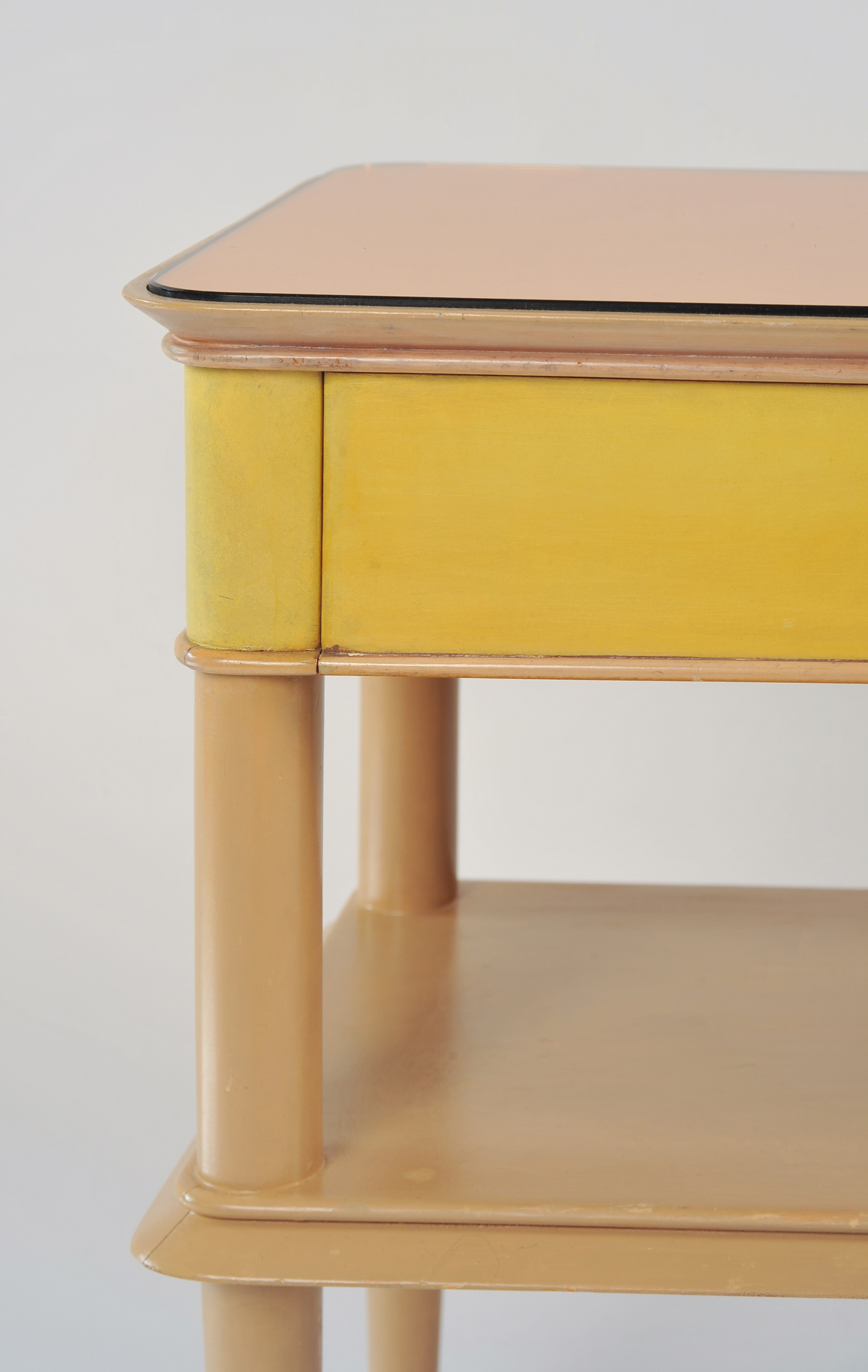 Pair Italian Painted Bedsides 03