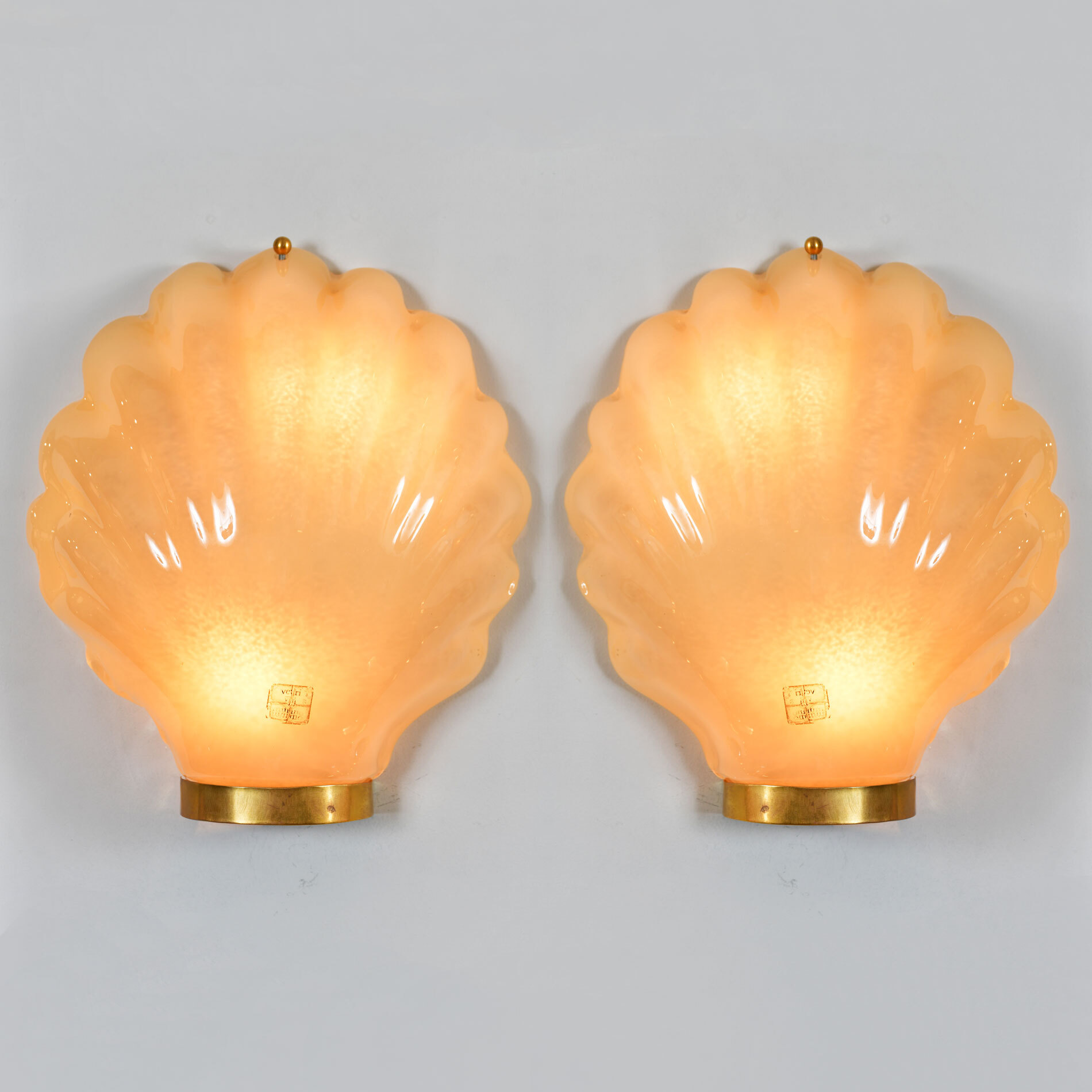 Pair Italian Shell Wall Lights 01