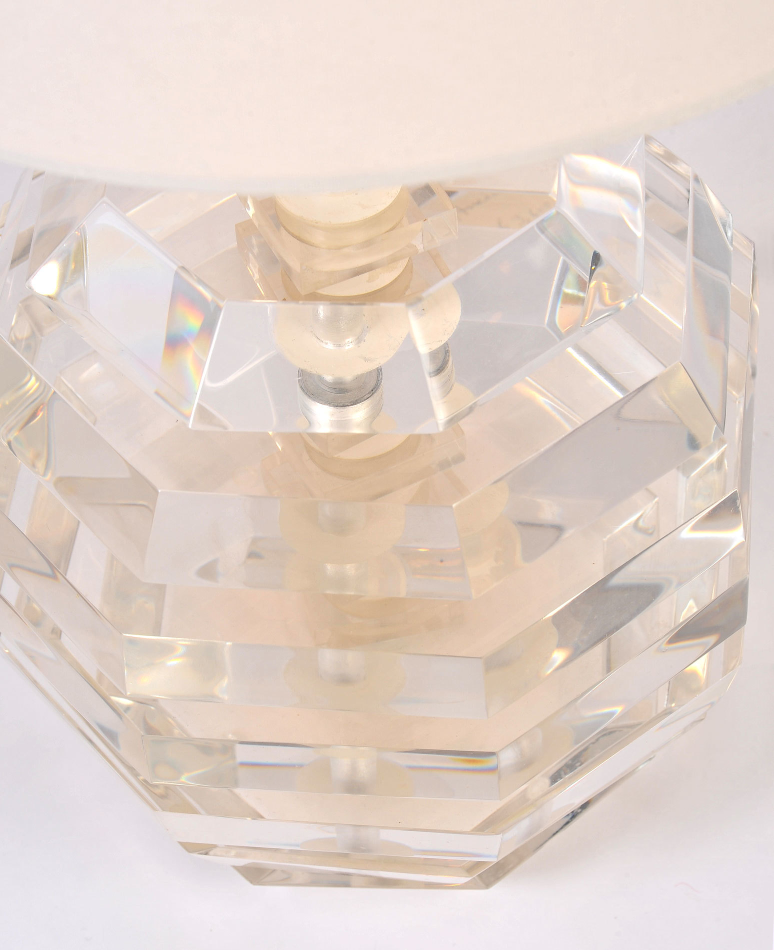 Pair Lucite Ball Lamps 03