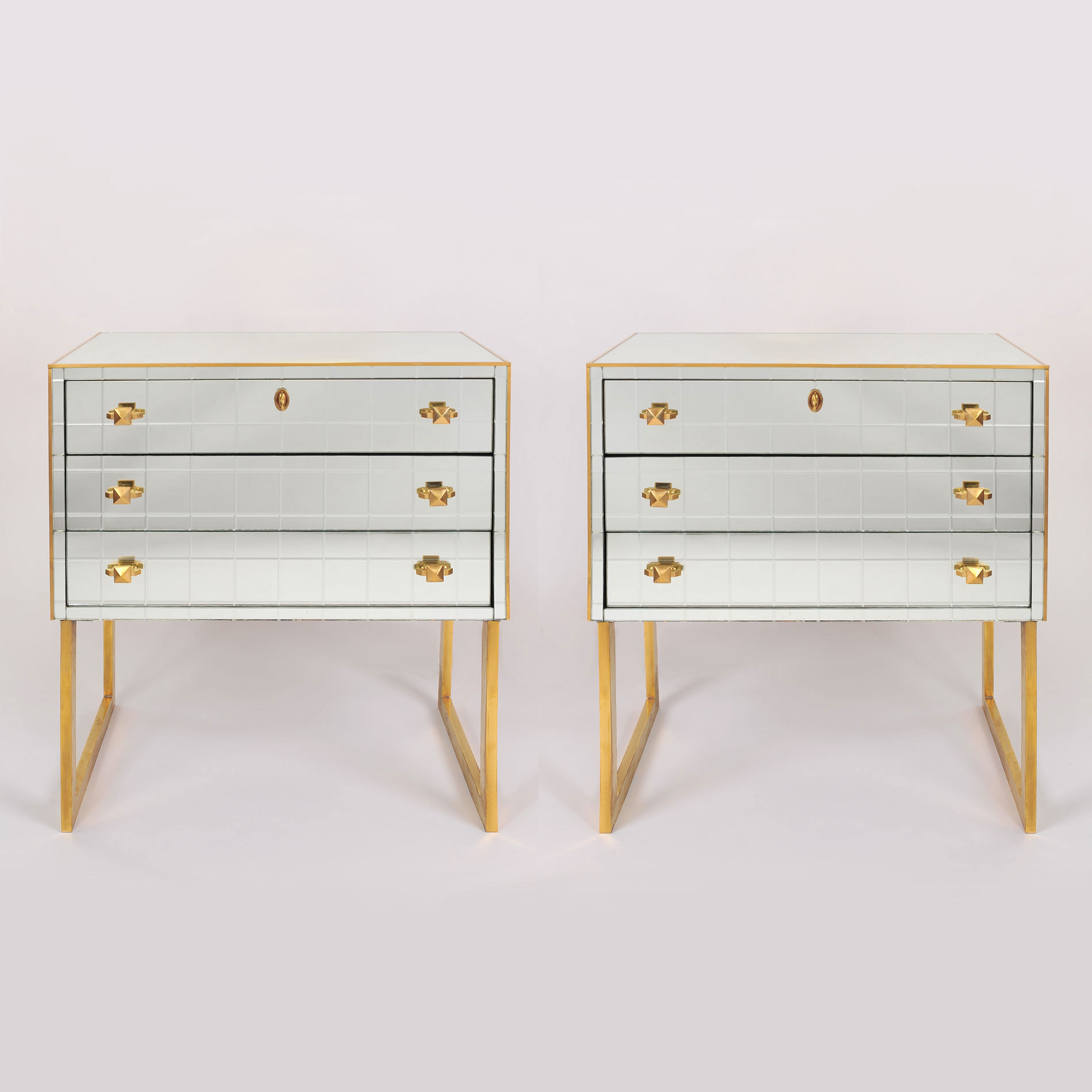 Pair Mirrored Bedsides 02