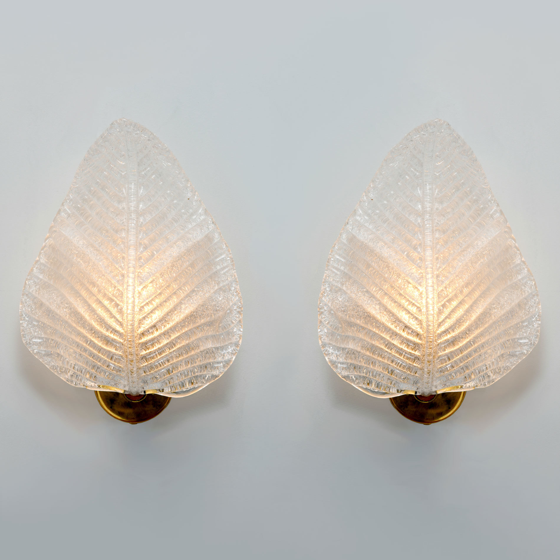 The image for Pair Muran Leaf Wall Lights 01