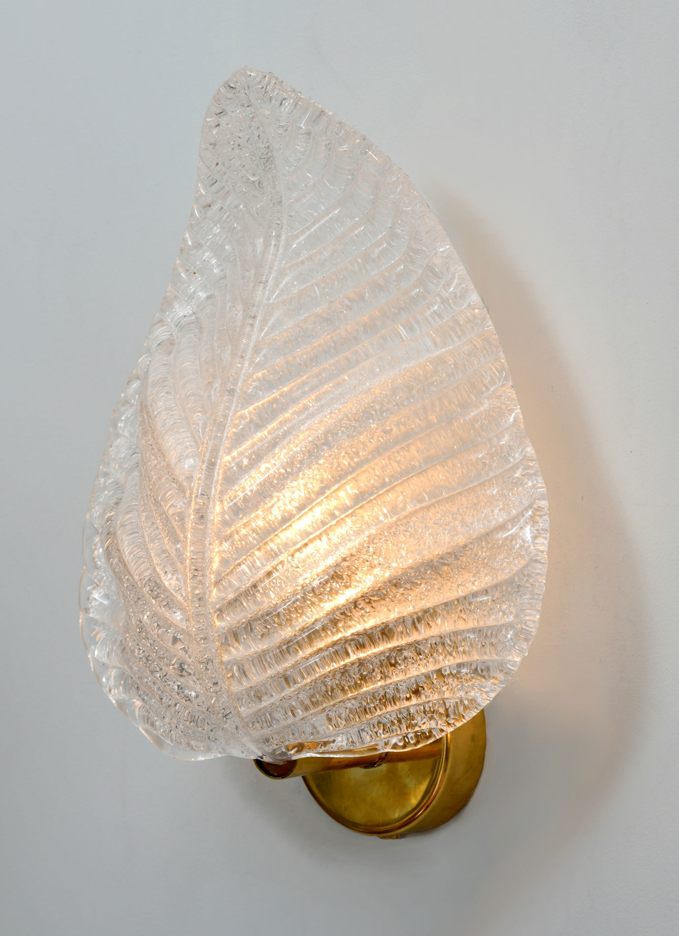 The image for Pair Muran Leaf Wall Lights 02