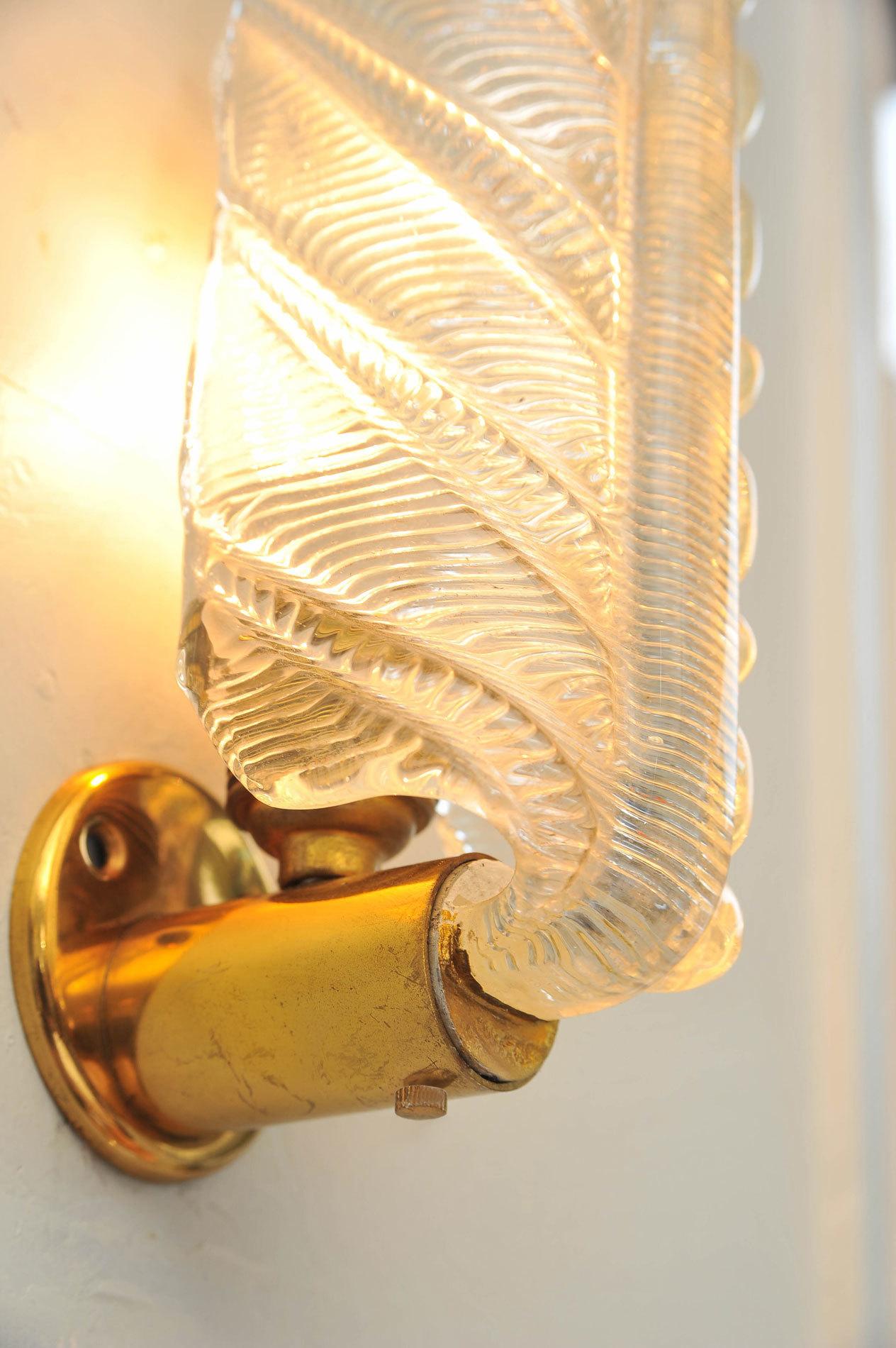 Pair Murano Leaf Lights 04