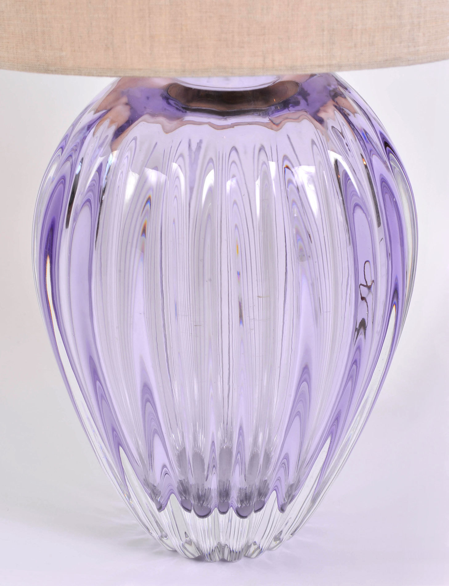 Pair Purple Vase Lamps 03