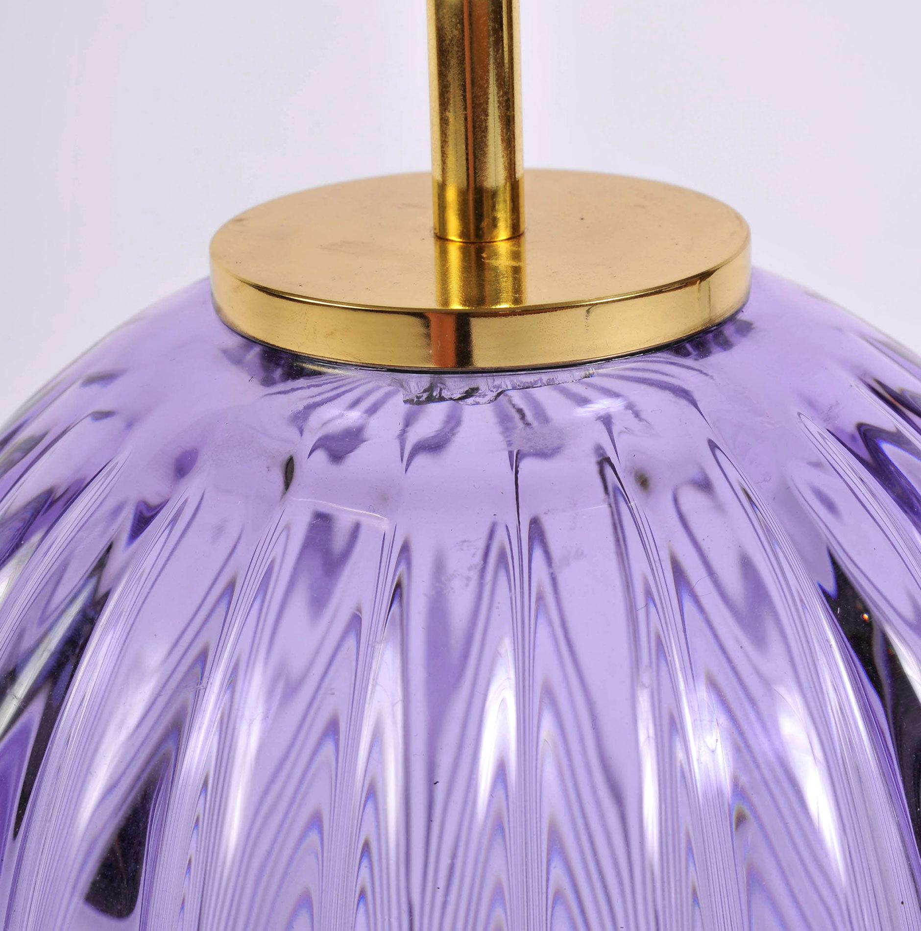 Pair Purple Vase Lamps 04