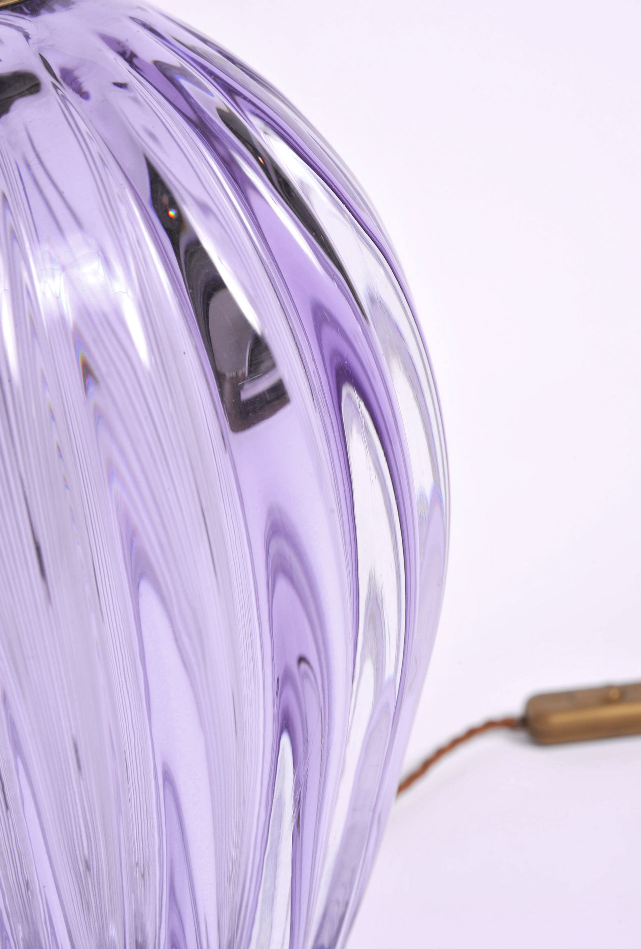 Pair Purple Vase Lamps 06