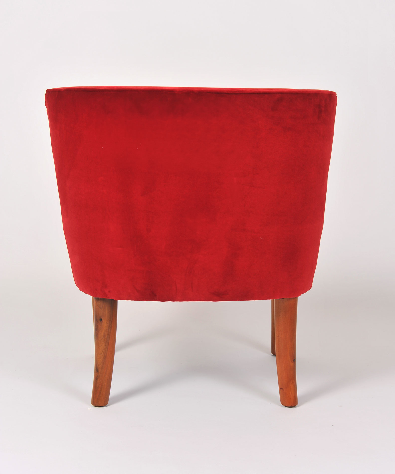 Pair Red Velvet Chairs 05