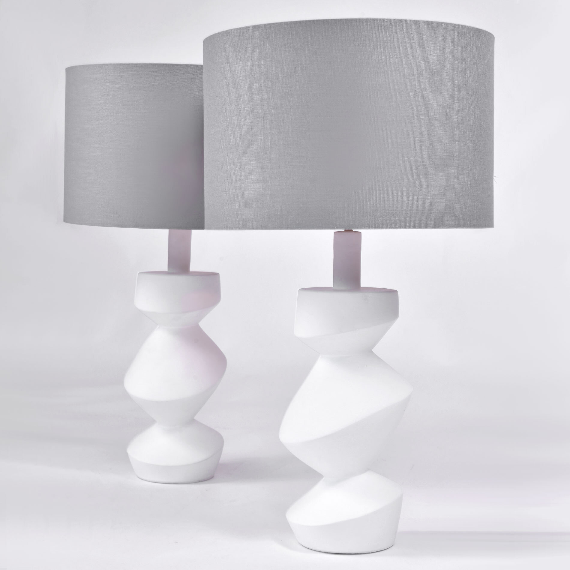 The image for Pair Savoy Lamps Natural Plaster 01