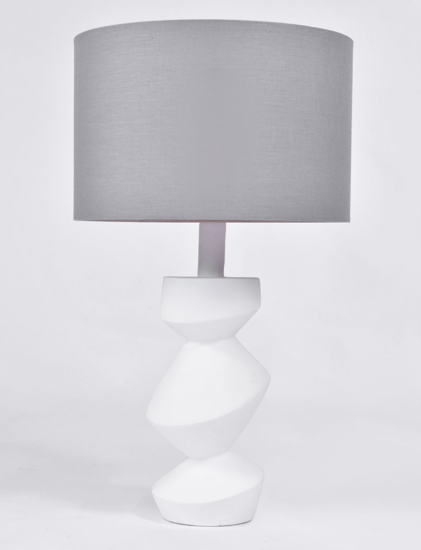 The image for Pair Savoy Lamps Natural Plaster 02
